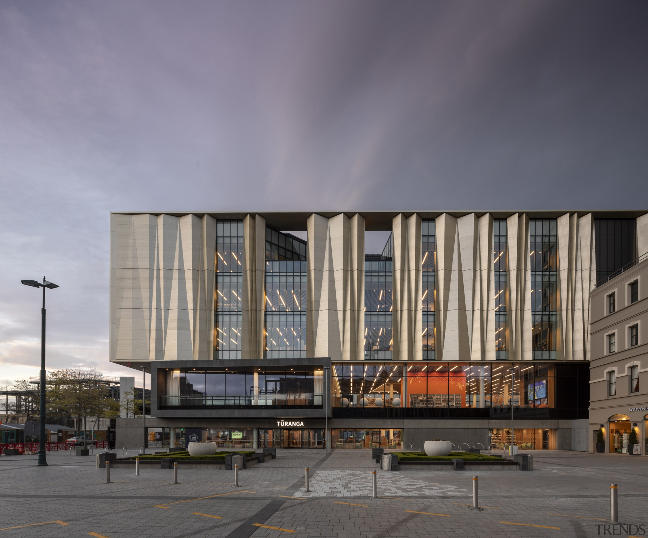 Christchurch Central Library – a celebration of culture apartment, architecture, building, commercial building, condominium, corporate headquarters, facade, headquarters, metropolis, metropolitan area, mixed use, residential area, sky, structure, gray