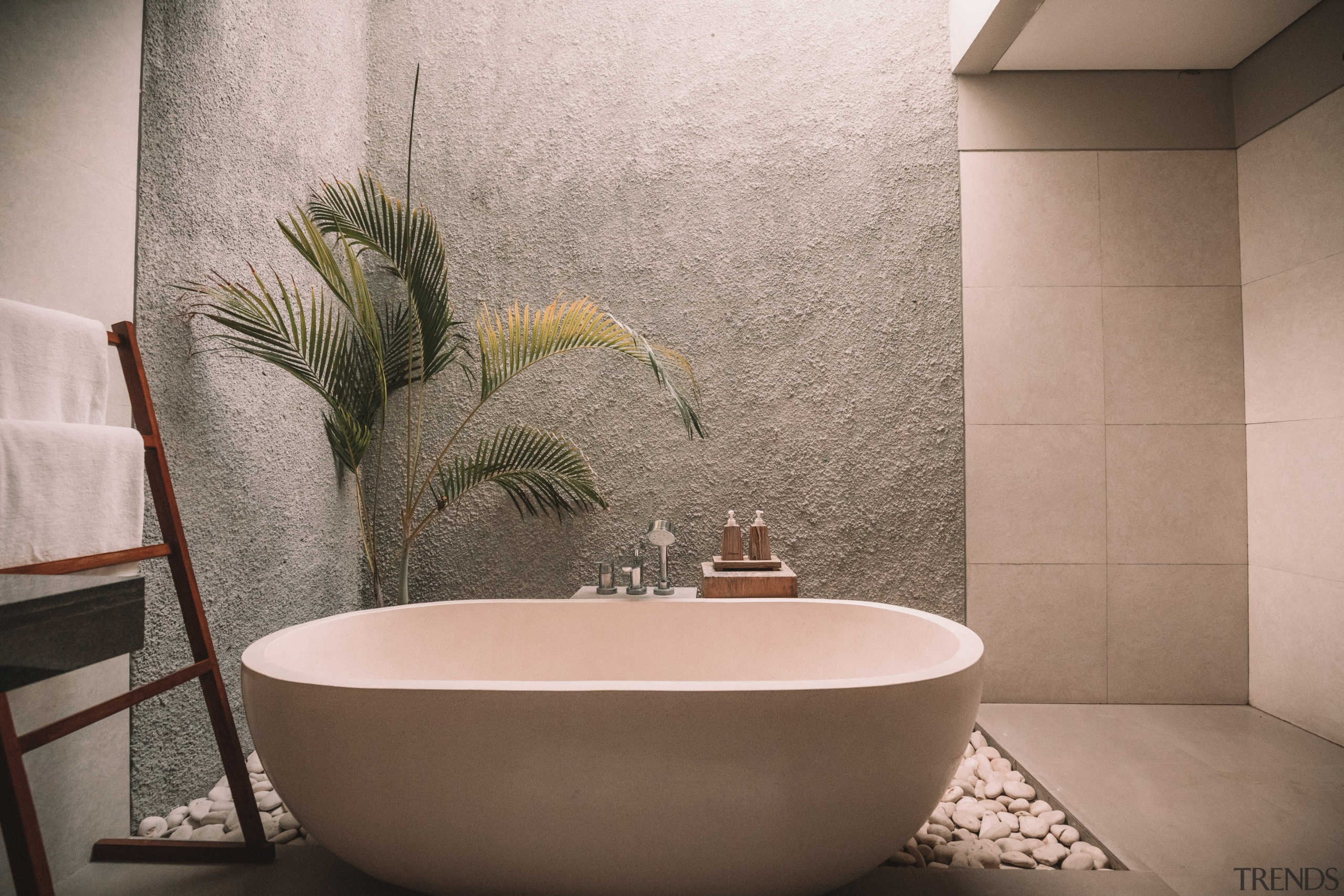 Modern plumbing options – including floor-mounted tapware –