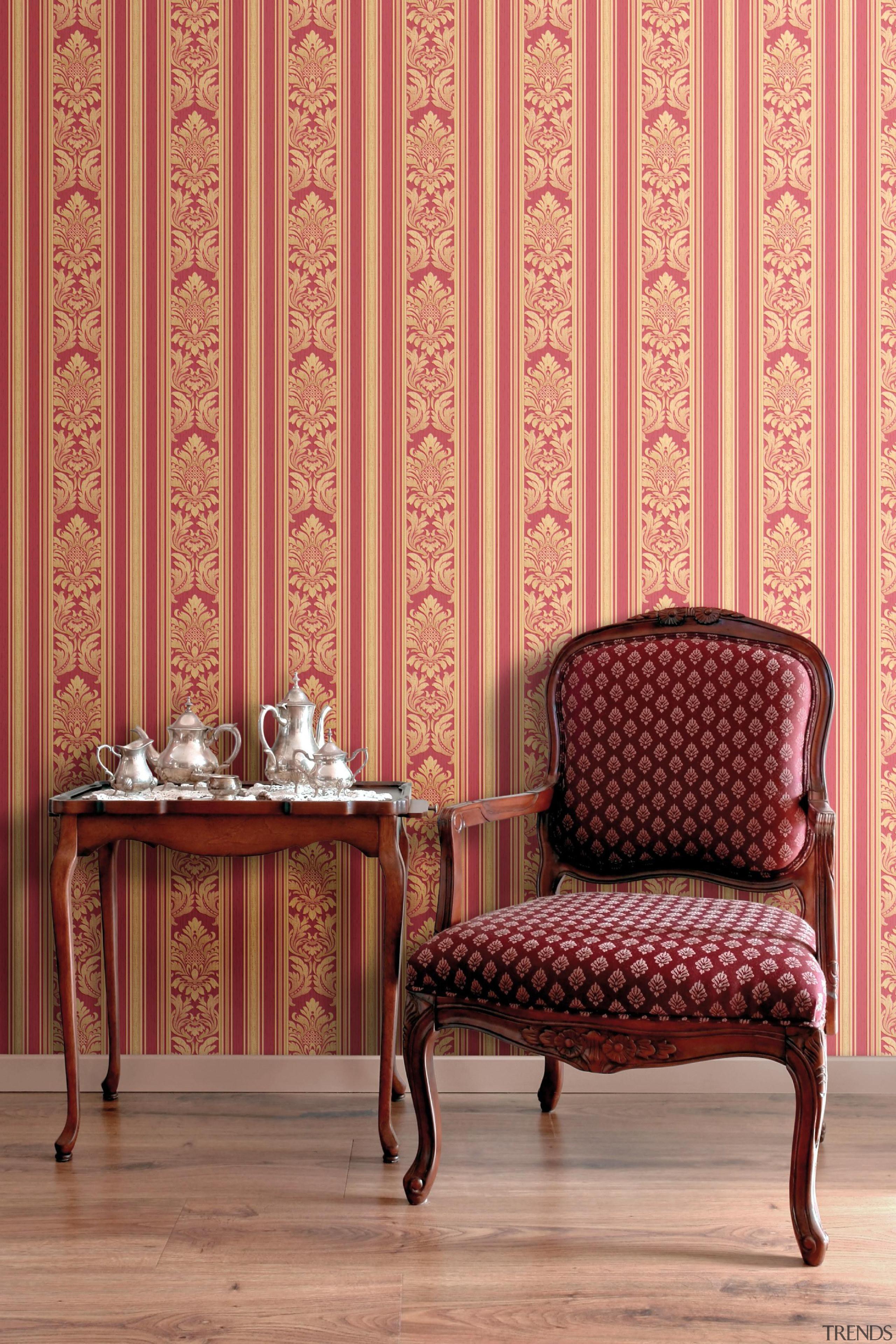 New Belaggio Range - New Belaggio Range - chair, couch, curtain, decor, floor, flooring, furniture, interior design, living room, pattern, table, wall, wallpaper, window, window covering, window treatment, wood, orange, red