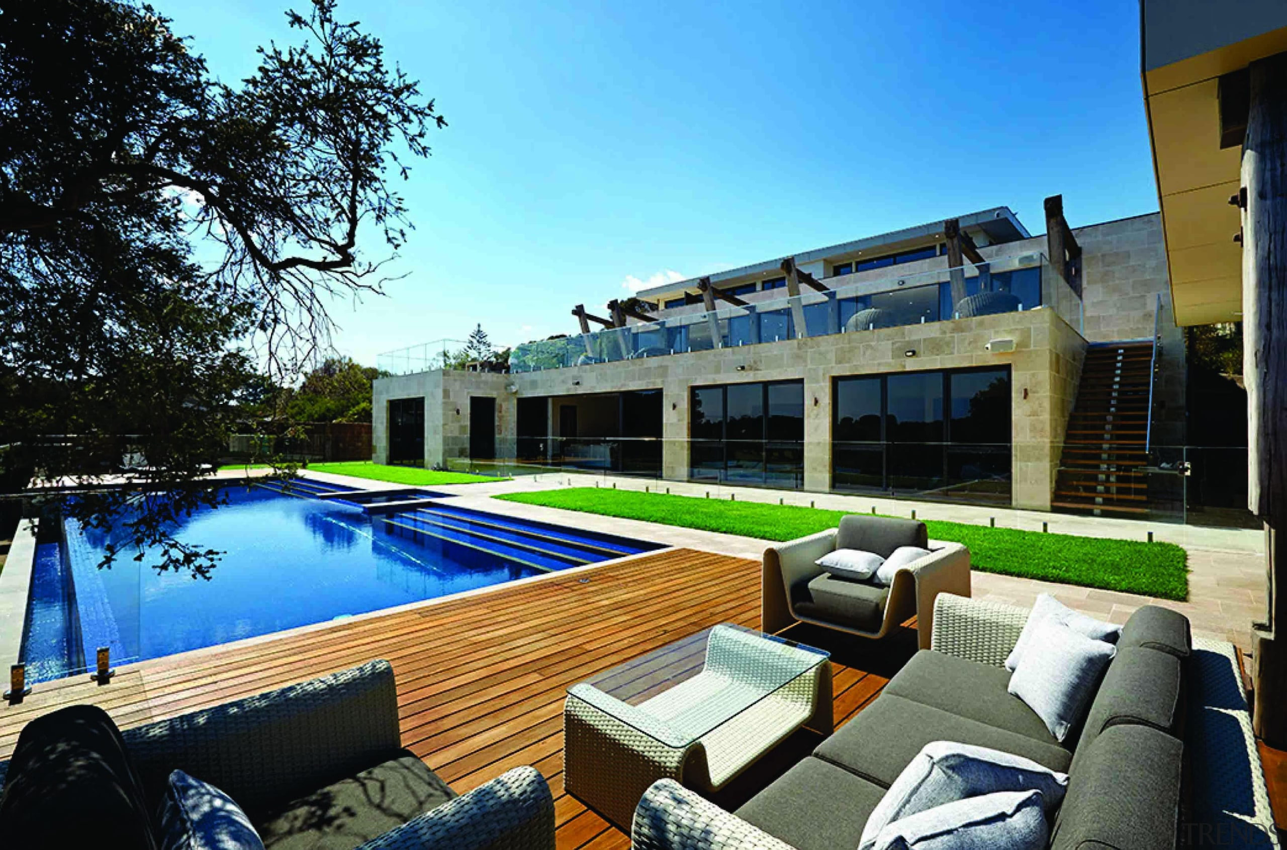 Once in are in the glazed pool area, apartment, estate, house, leisure, property, real estate, resort, swimming pool, villa, black