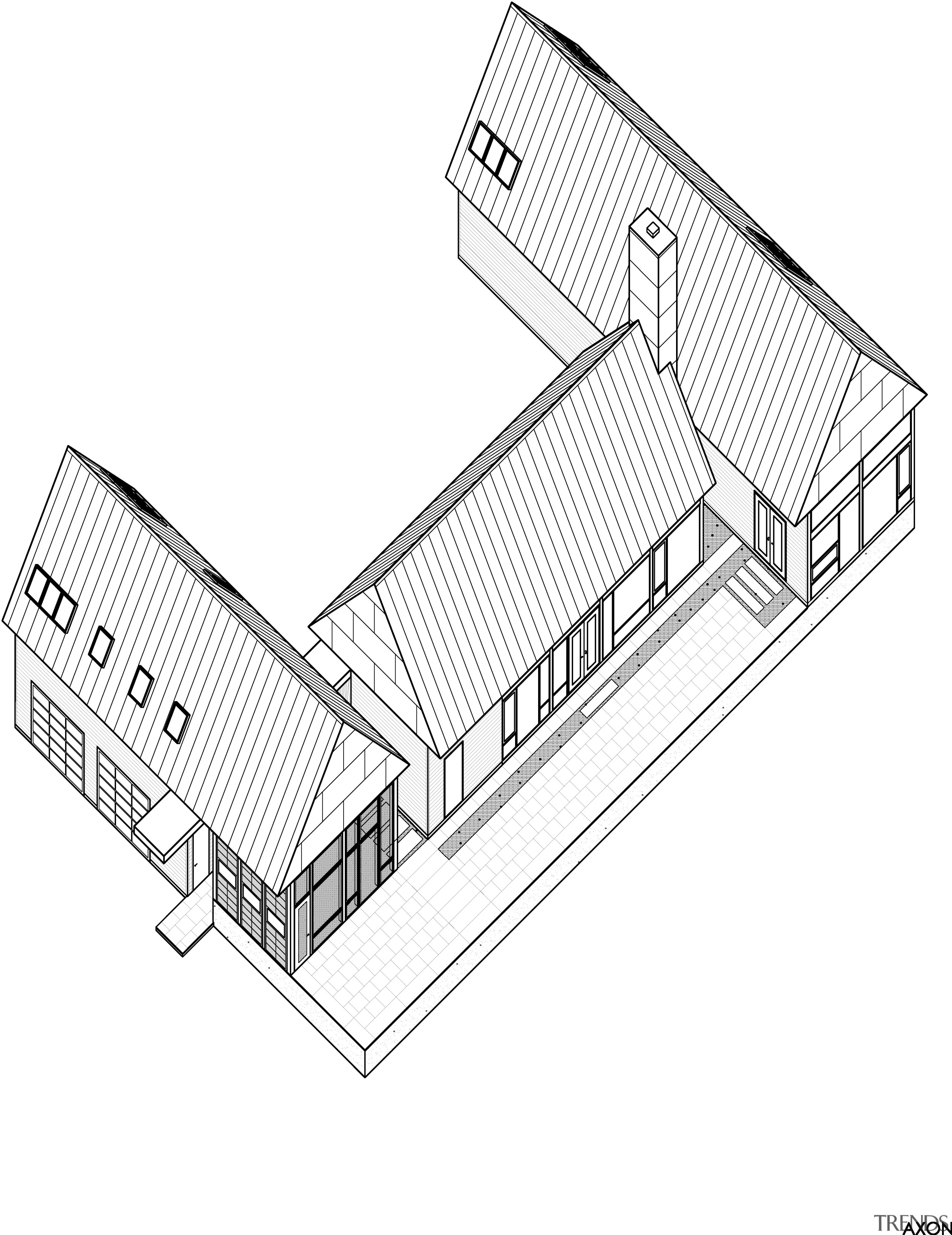 Modern country home plan by Robert M Gurney angle, architecture, area, automotive design, design, diagram, drawing, line, line art, product, product design, structure, white