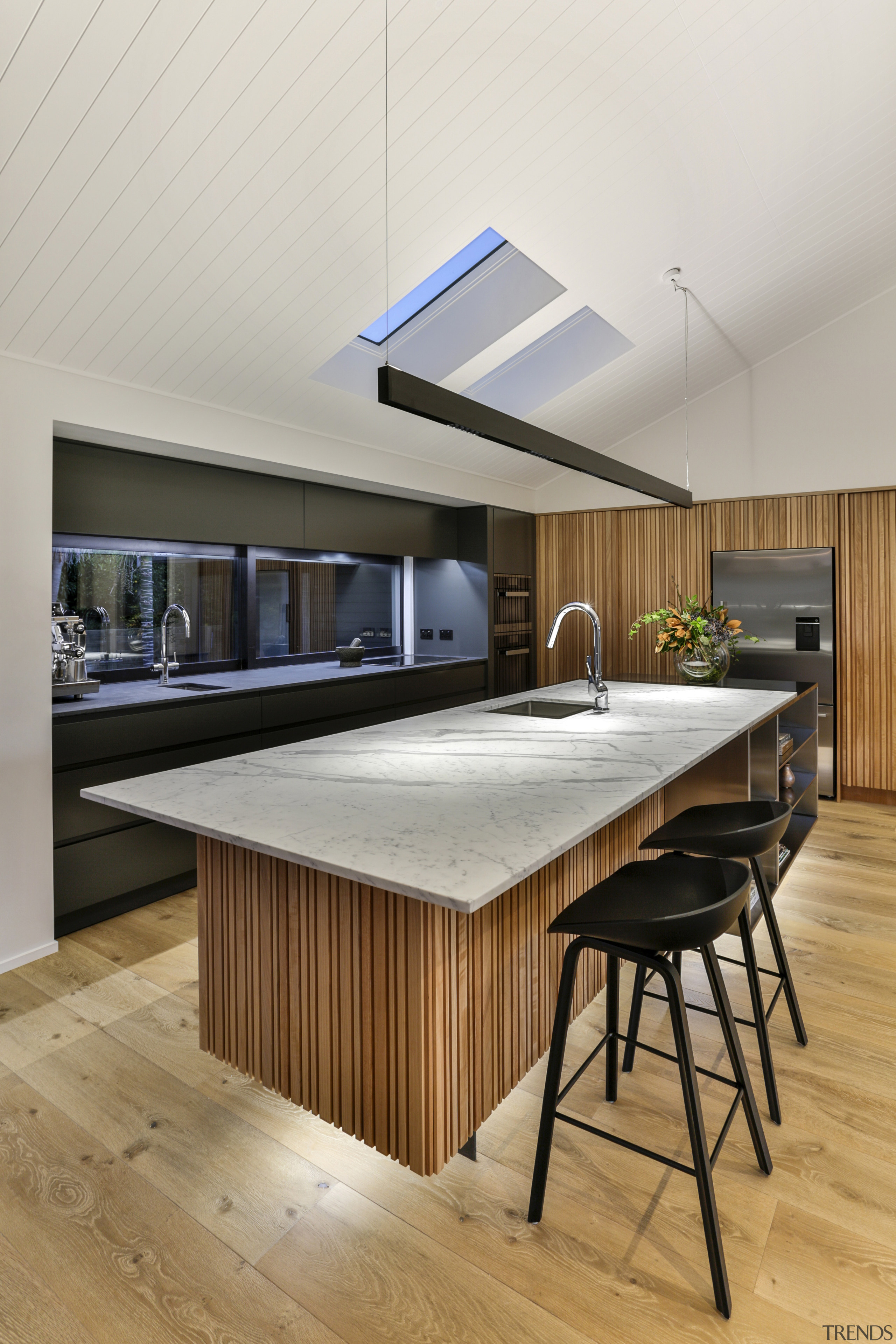 Half Moon Bay - architecture | ceiling | architecture, ceiling, countertop, floor, interior design, kitchen, table, gray
