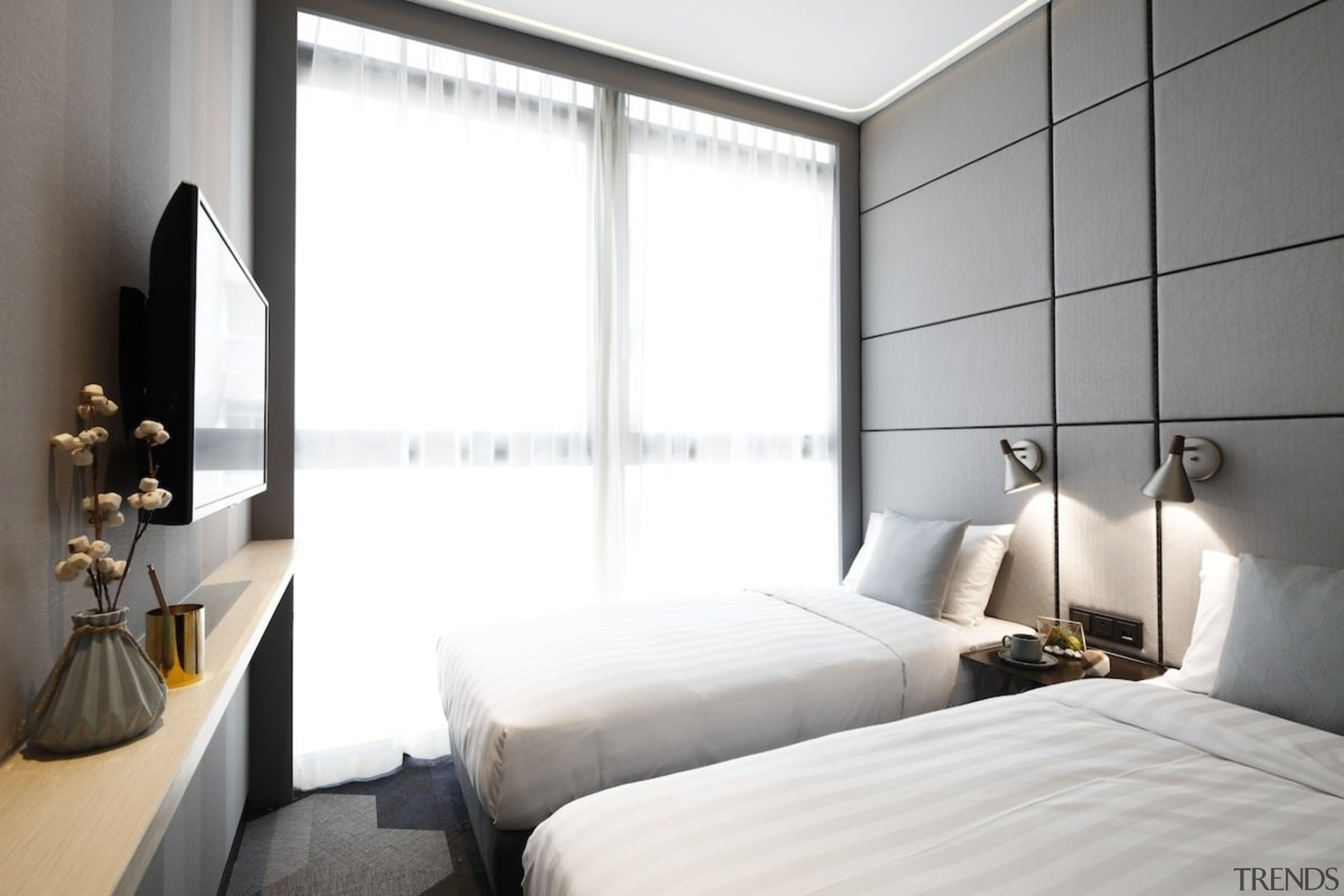 Hotel Ease Access - Hotel Ease Access - architecture, bedroom, ceiling, hotel, interior design, property, room, suite, window, white, gray