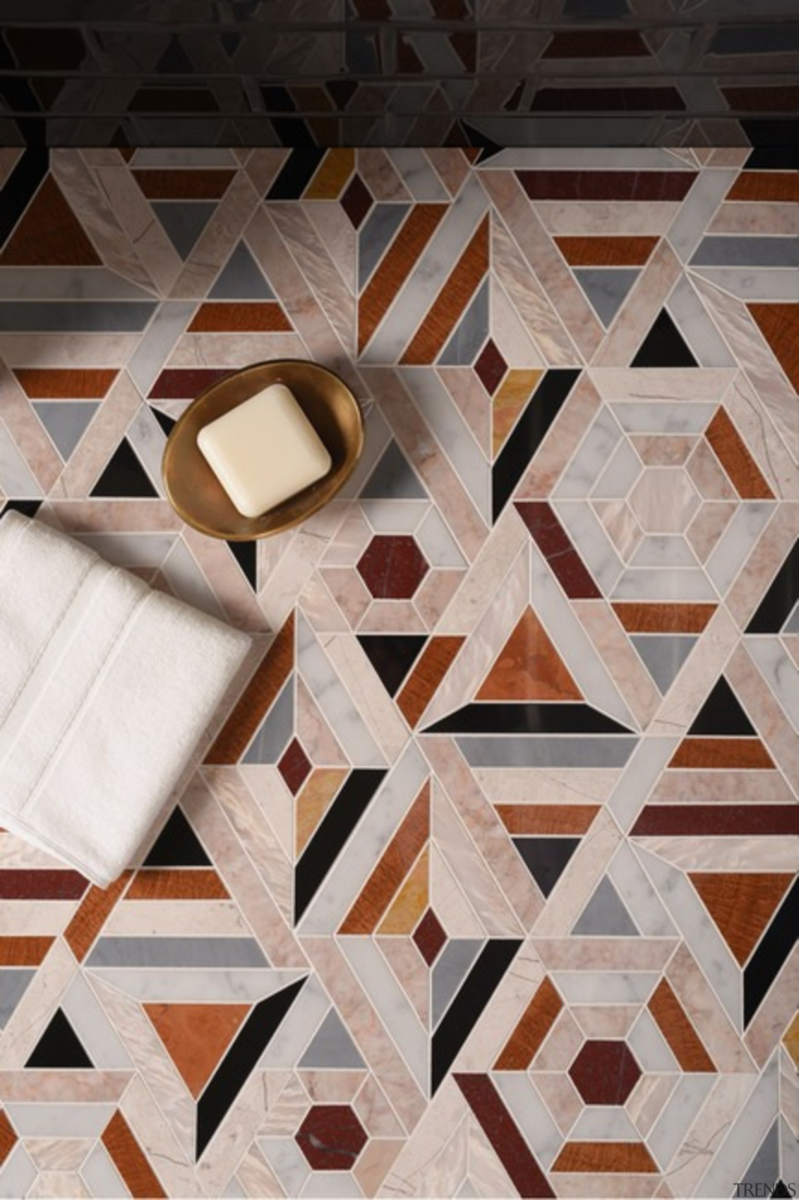 Confectionary – French Quarter Collection - design | design, floor, flooring, hardwood, pattern, square, symmetry, tile, wall, wood, gray