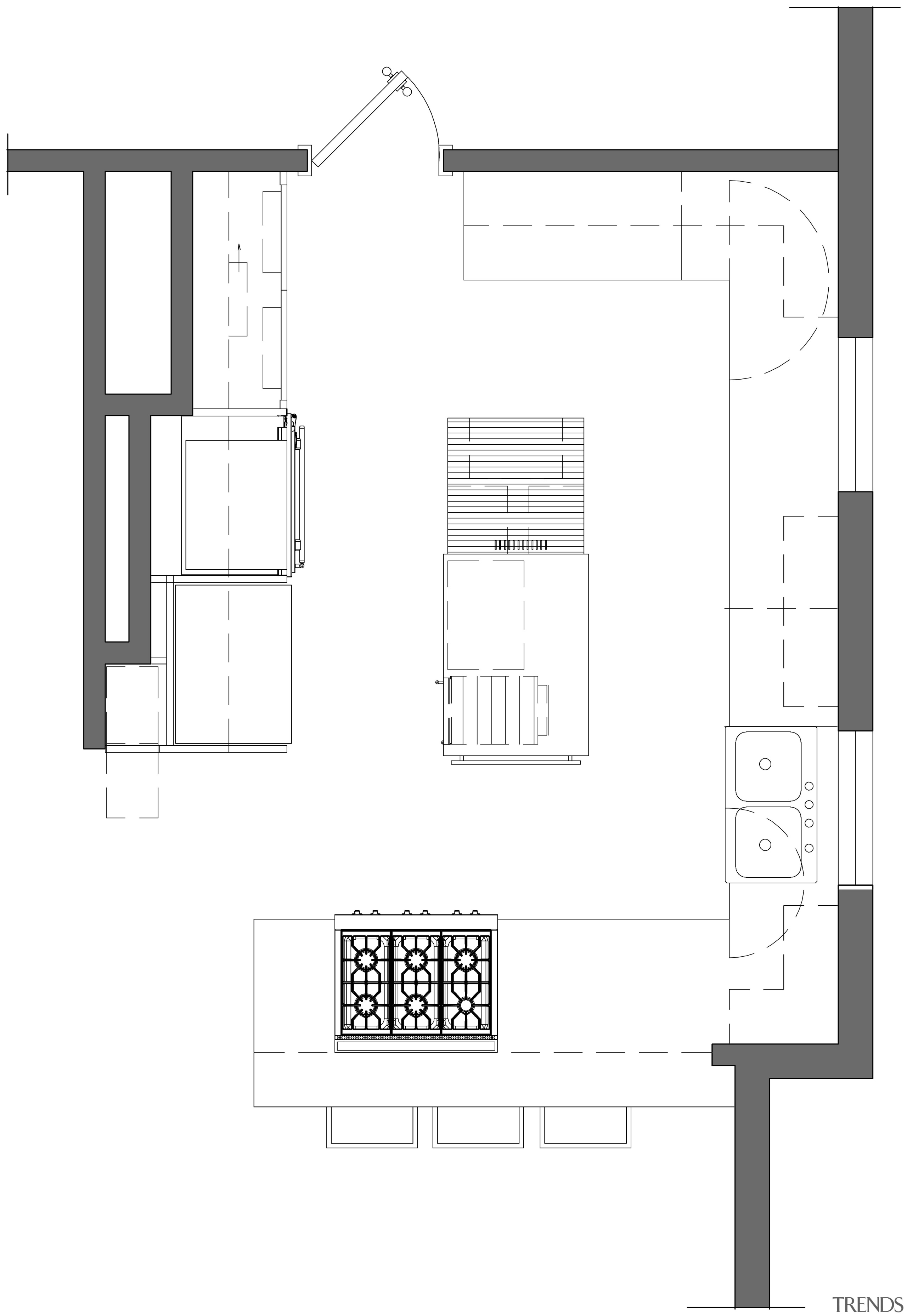 View of remodeled kitchen with rainforest green marble angle, architecture, area, black and white, design, diagram, drawing, floor plan, font, furniture, line, plan, product, product design, square, structure, text, white