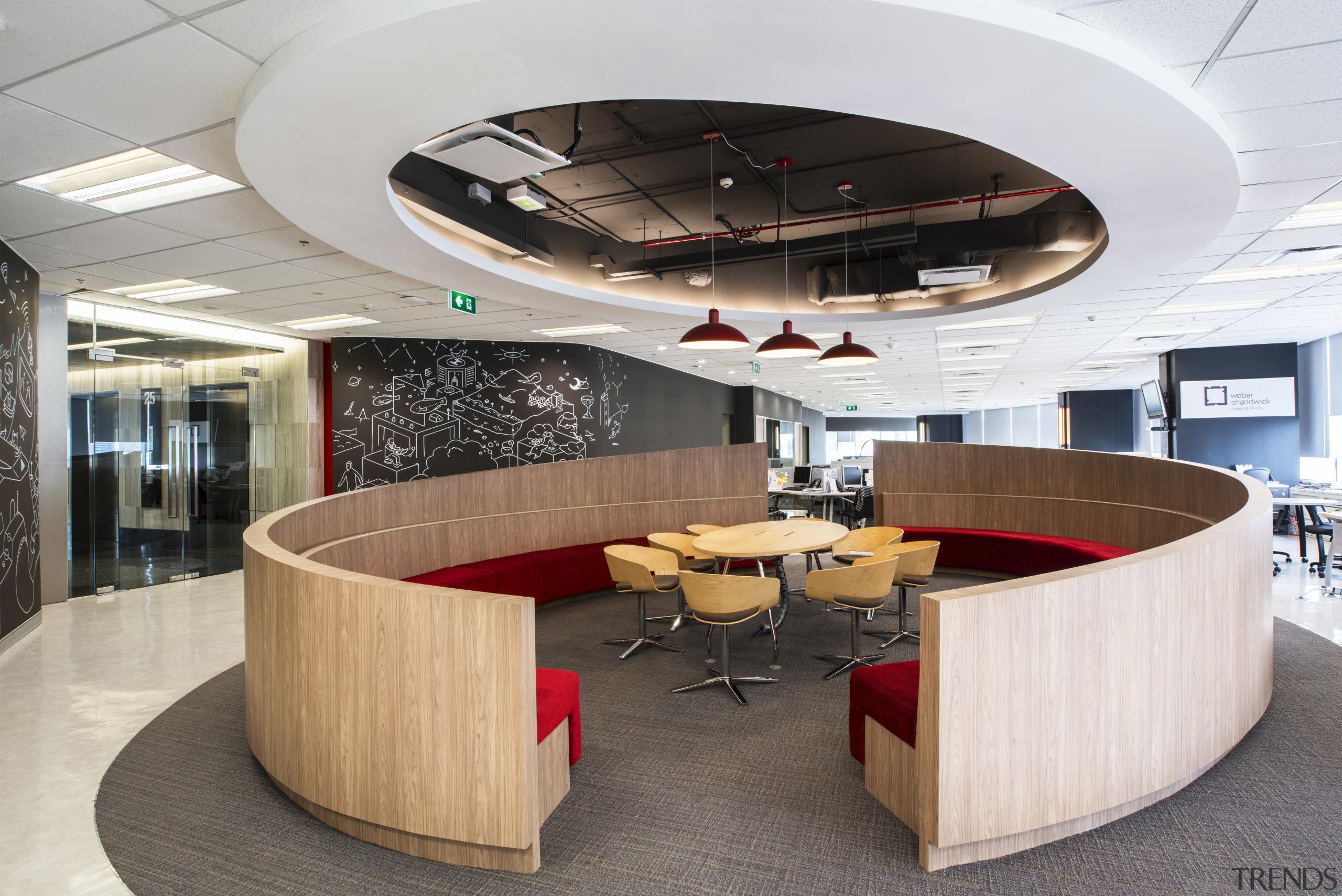 McCann Worldgroup Bangkok corporate office  interior design conference hall, furniture, interior design, office, product design, table, white
