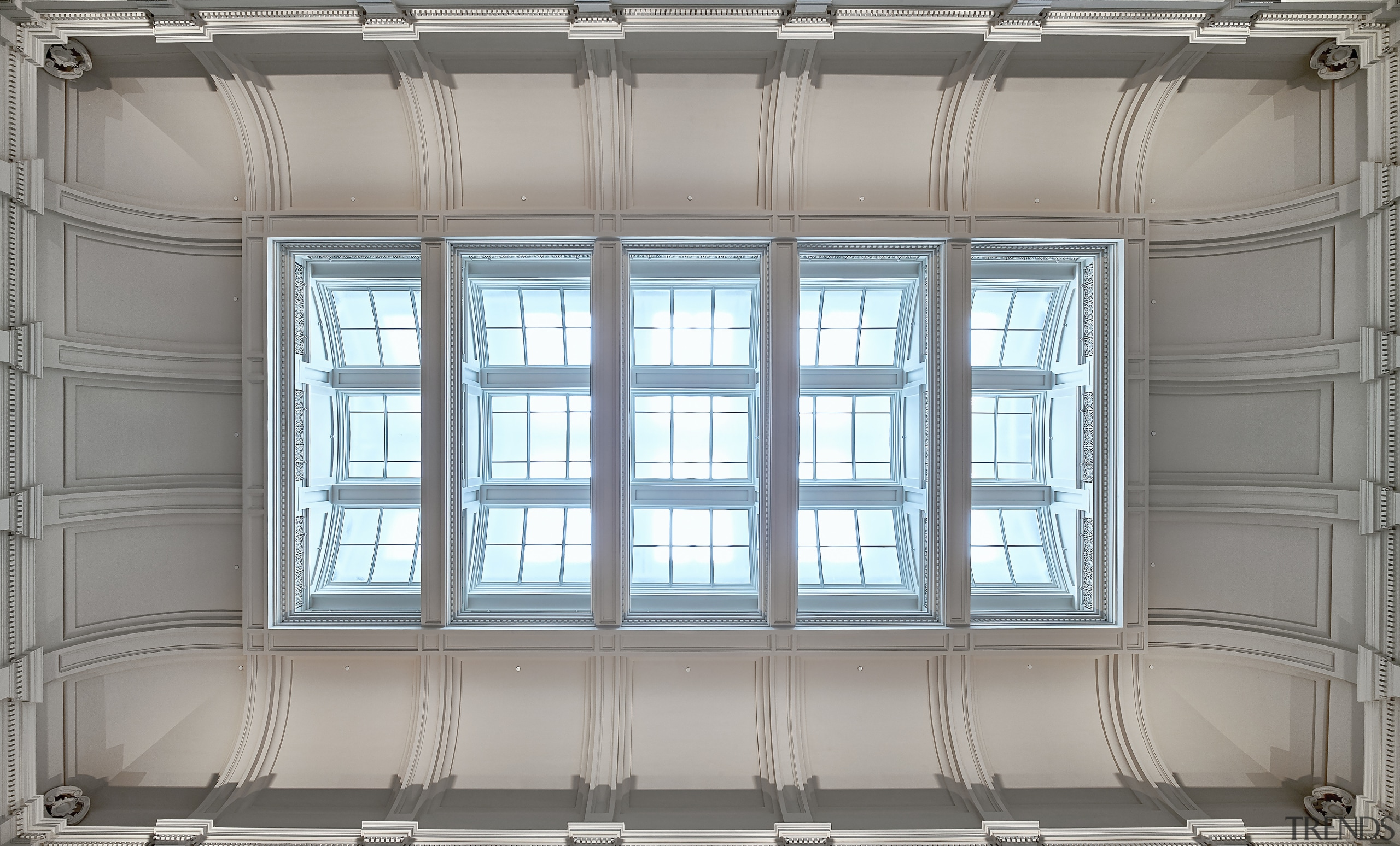 The Postal Hall in Perths 19th Century GPO architecture, daylighting, facade, home, interior design, structure, wall, window, gray