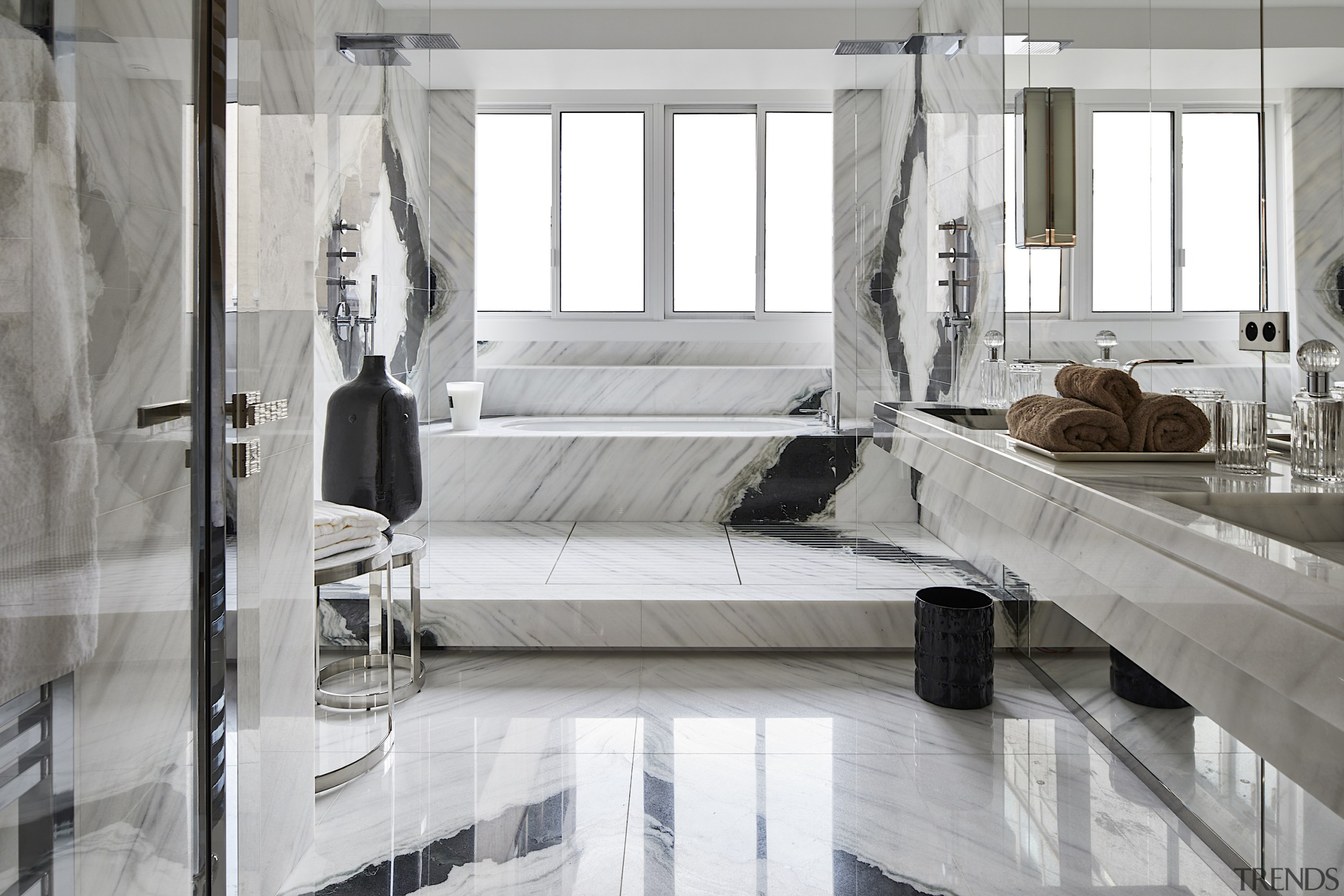 """""""An exquisite balance between the white marble and gray, white"""