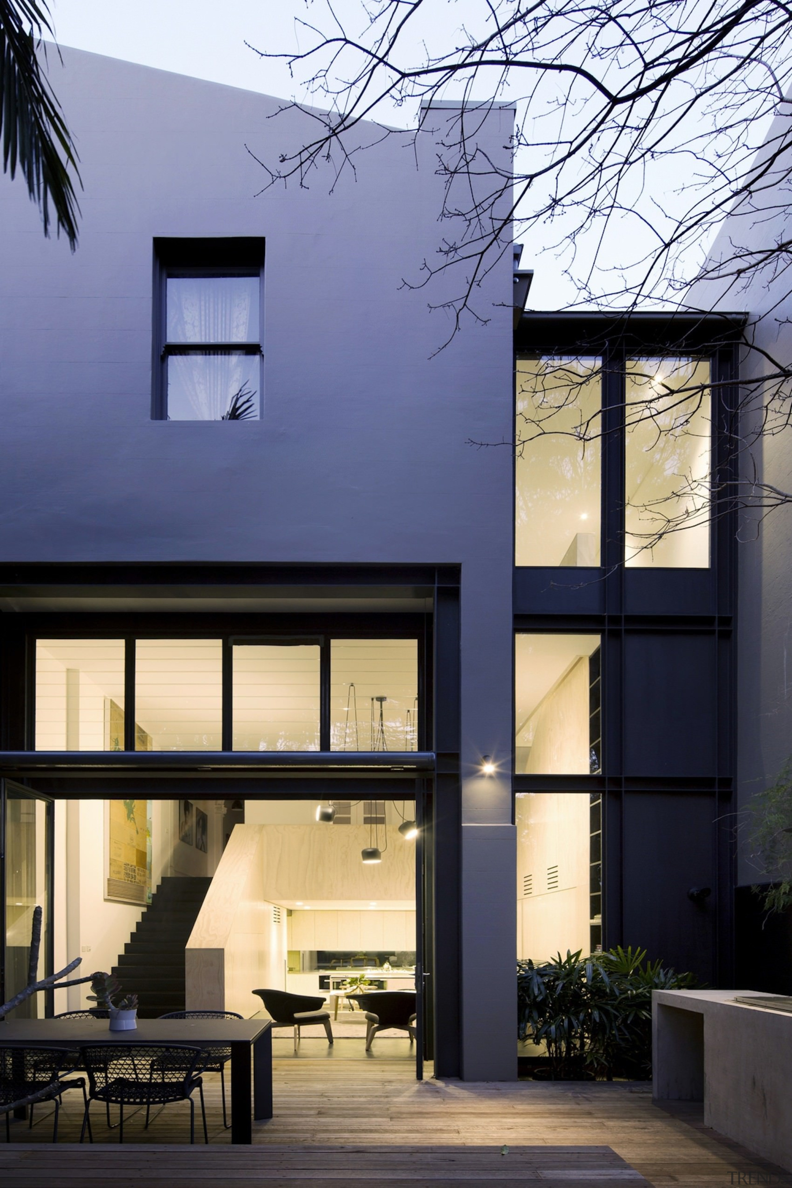 Architect: Architect PrineasPhotography by Chris Warnes architecture, building, daylighting, facade, home, house, interior design, real estate, residential area, window, black