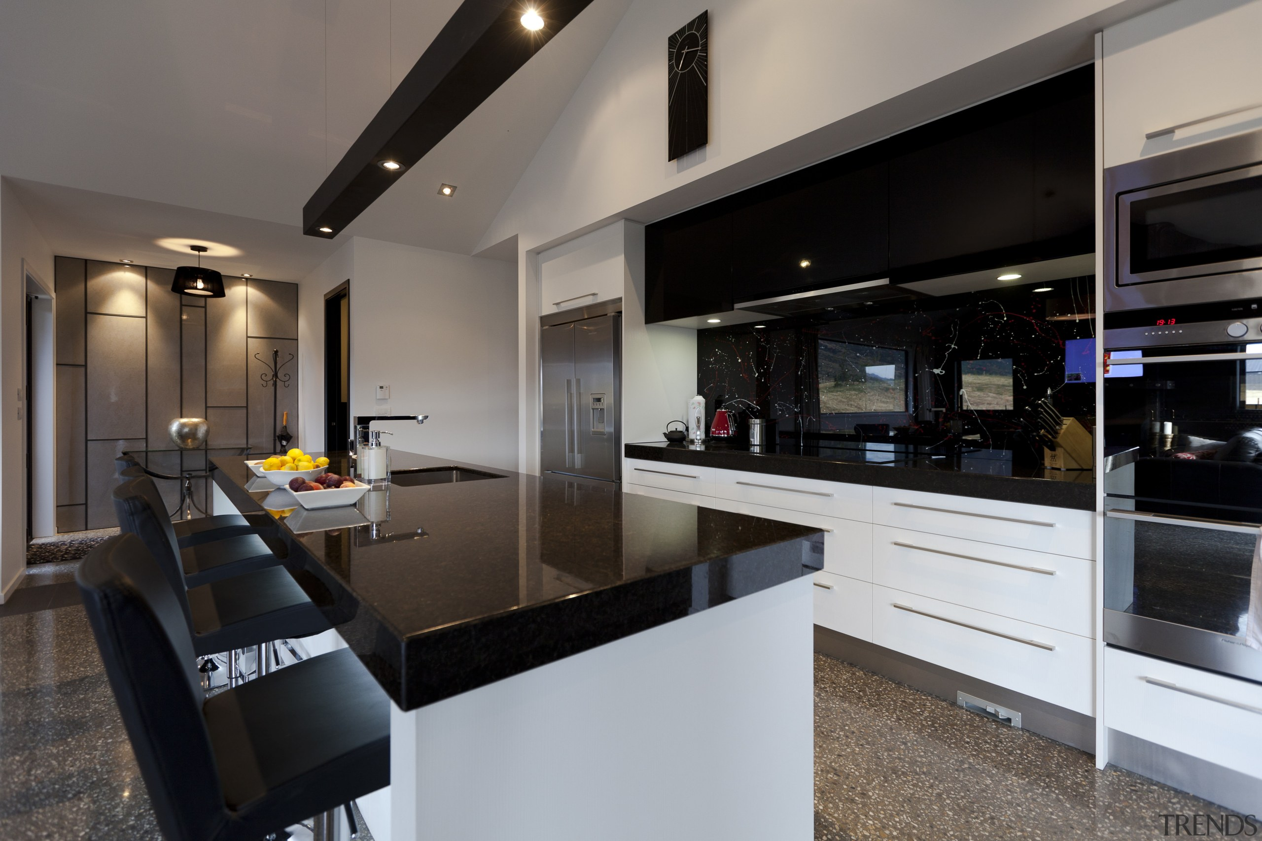 Kitchen With Black Benchtop Splash Gallery 9 Trends