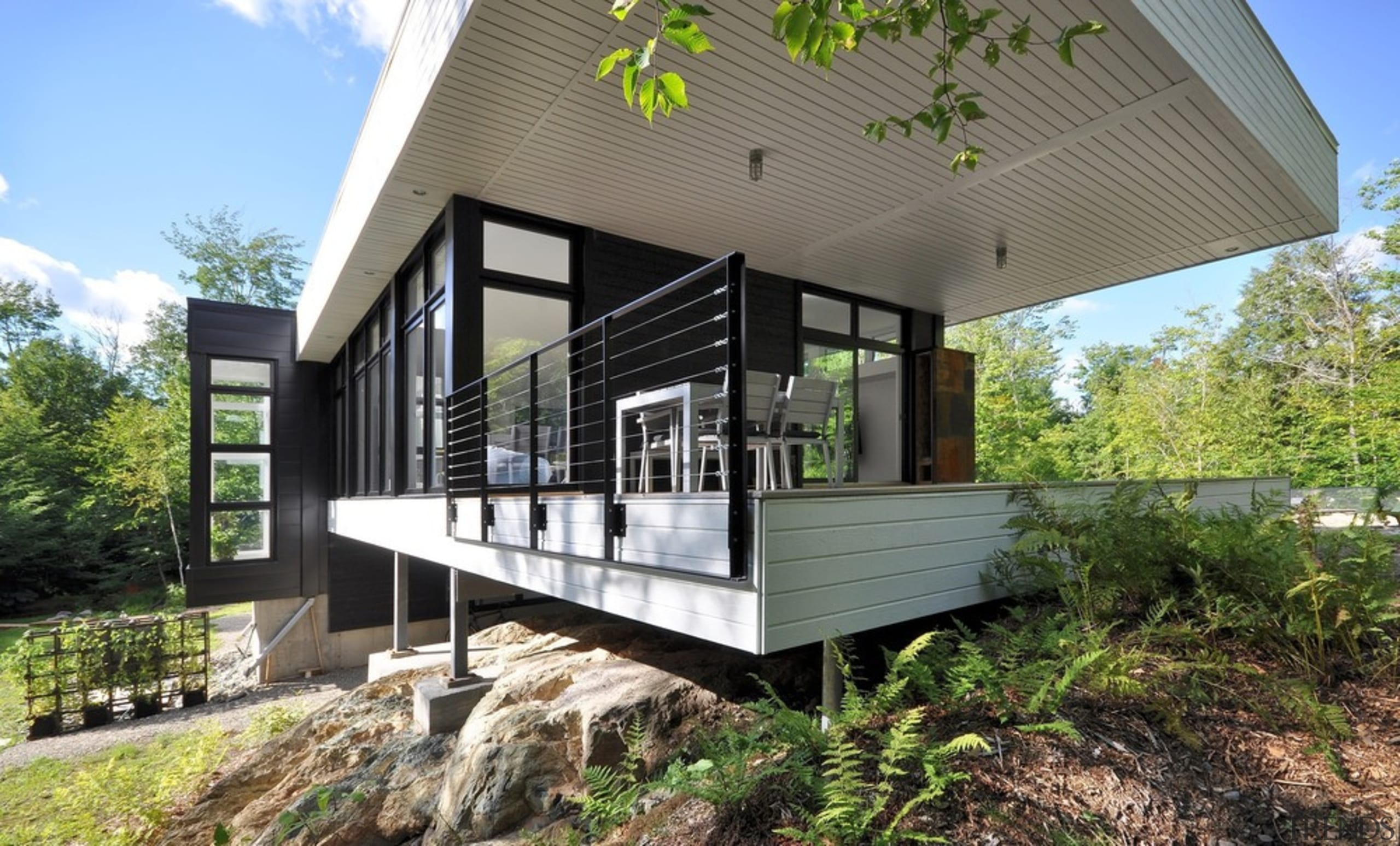The starting point for the design of this architecture, cottage, home, house, property, real estate, gray