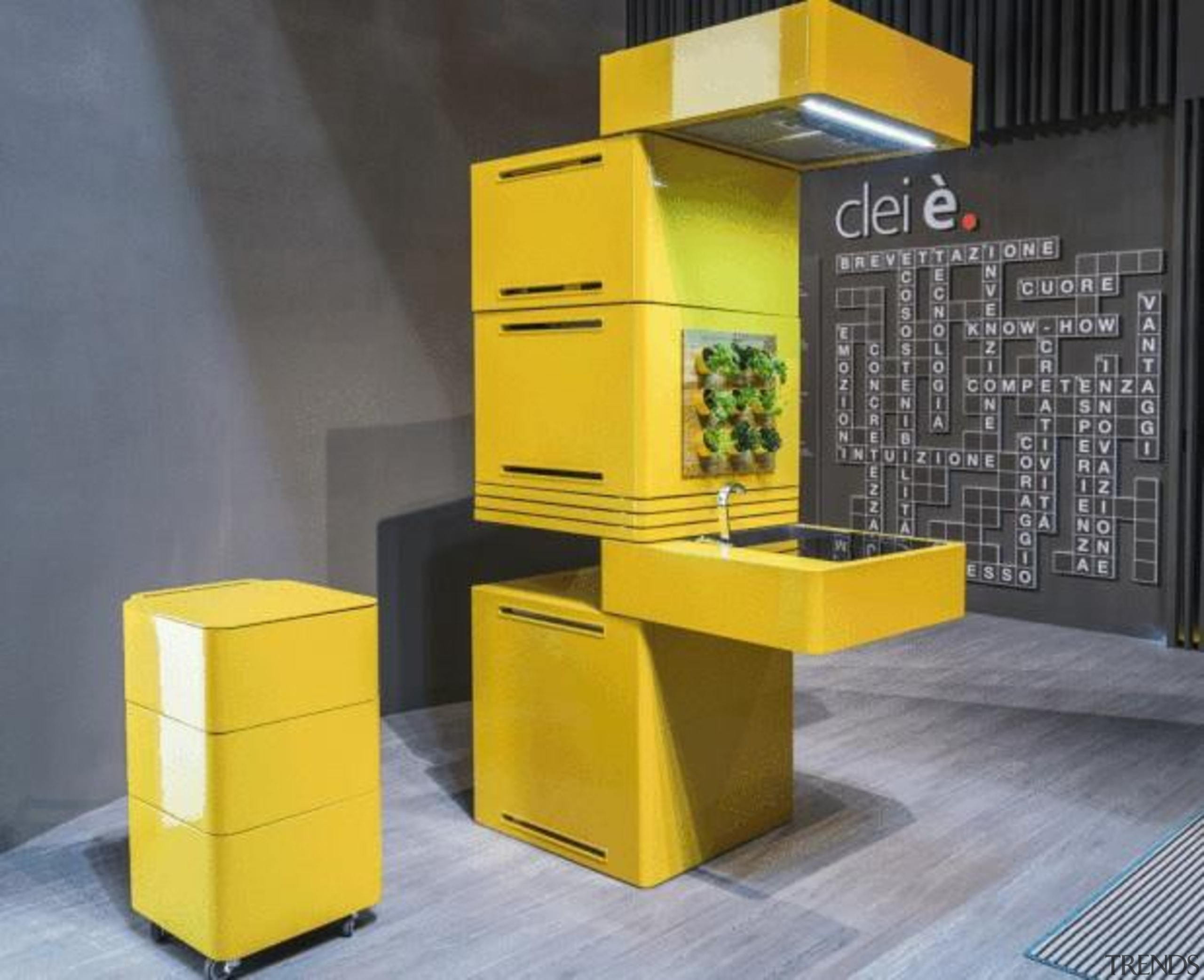 Forget 'bigger is better'; in the eco-conscious yet furniture, product, product design, table, yellow, gray