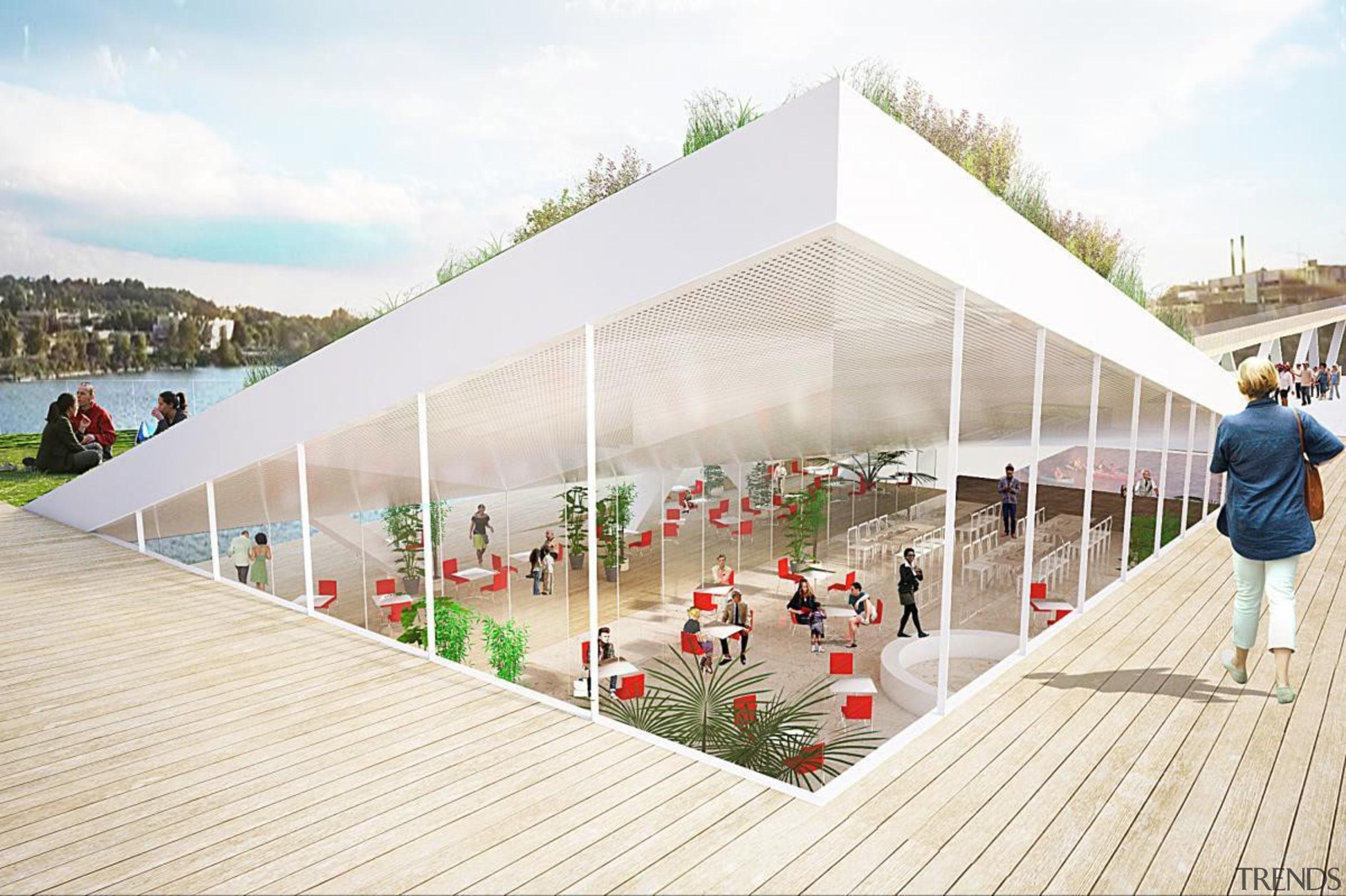 High line park - High line park - architecture, leisure, mixed use, pavilion, structure, urban design, white