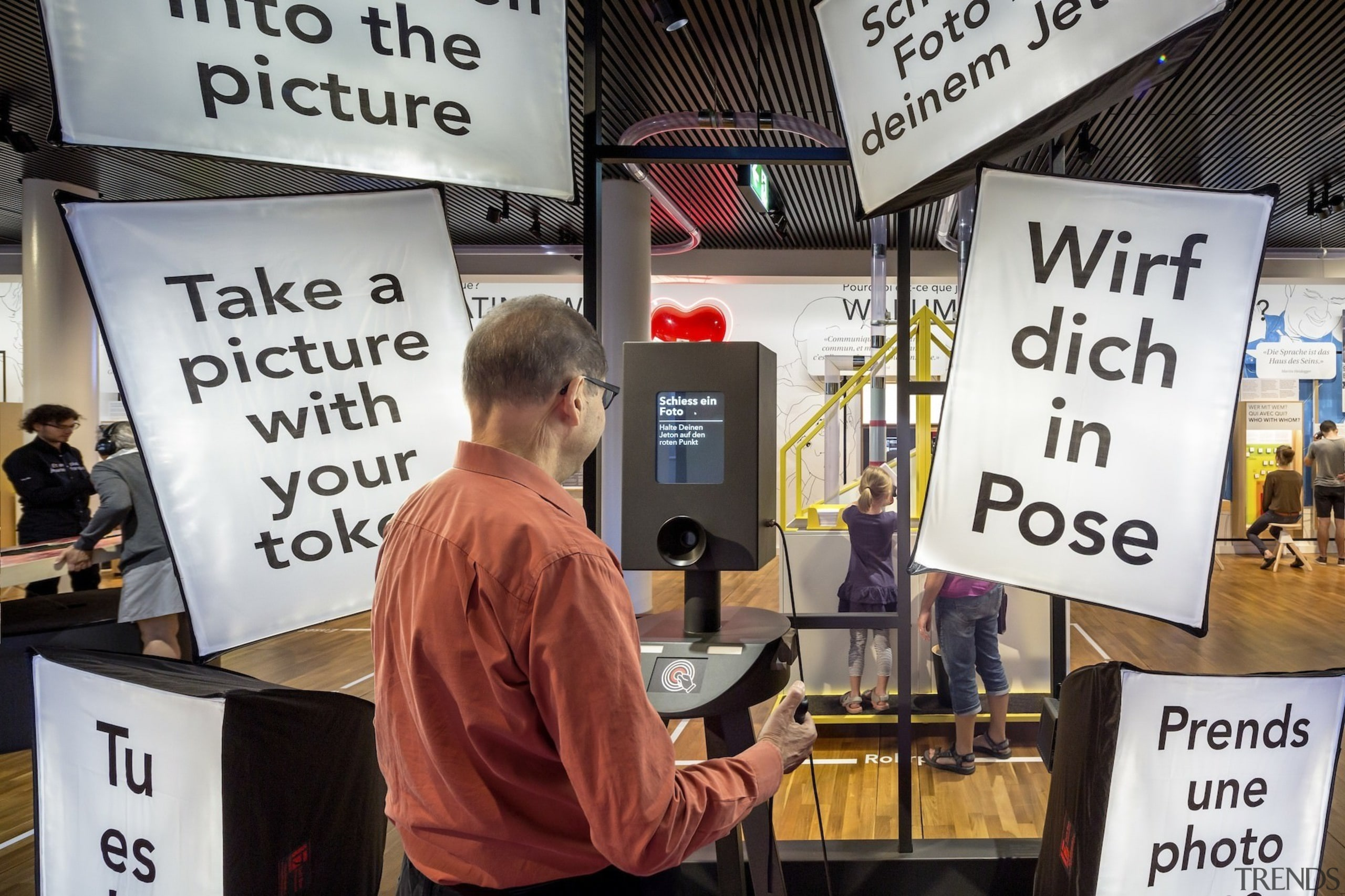 The new permanent exhibition at the Museum of advertising, demonstration, protest, white, black