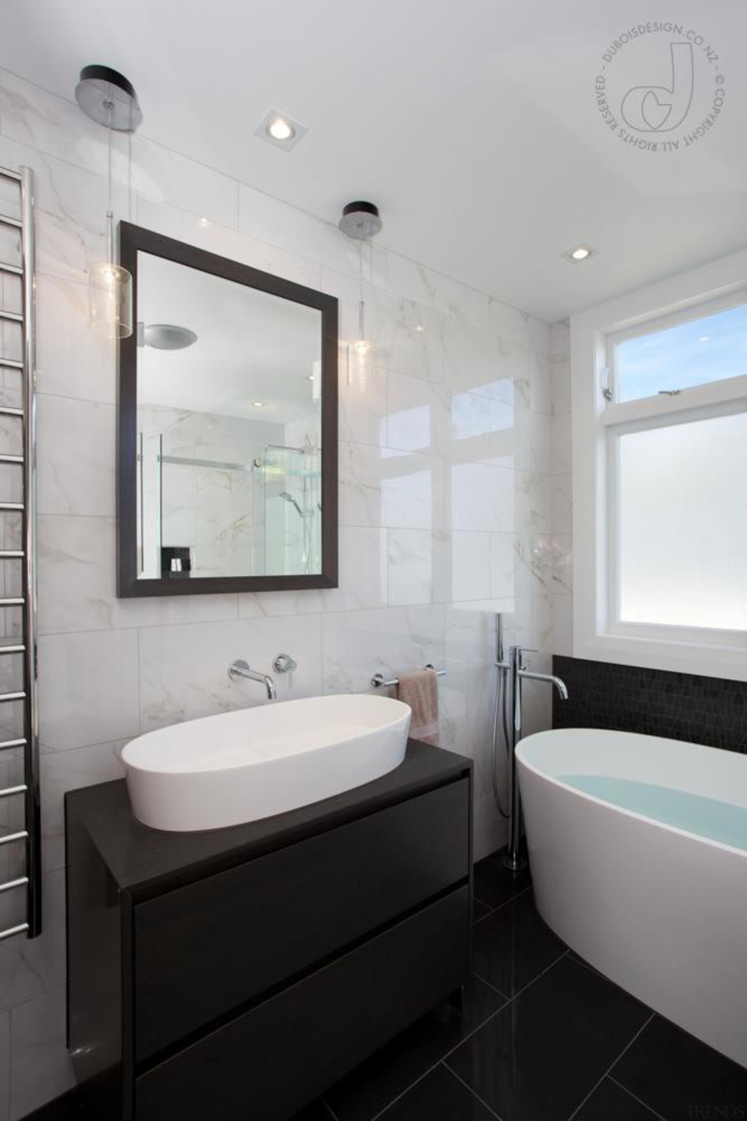 Stylish Bathroom - Stylish Bathroom - architecture | architecture, bathroom, home, interior design, room, sink, window, gray, black