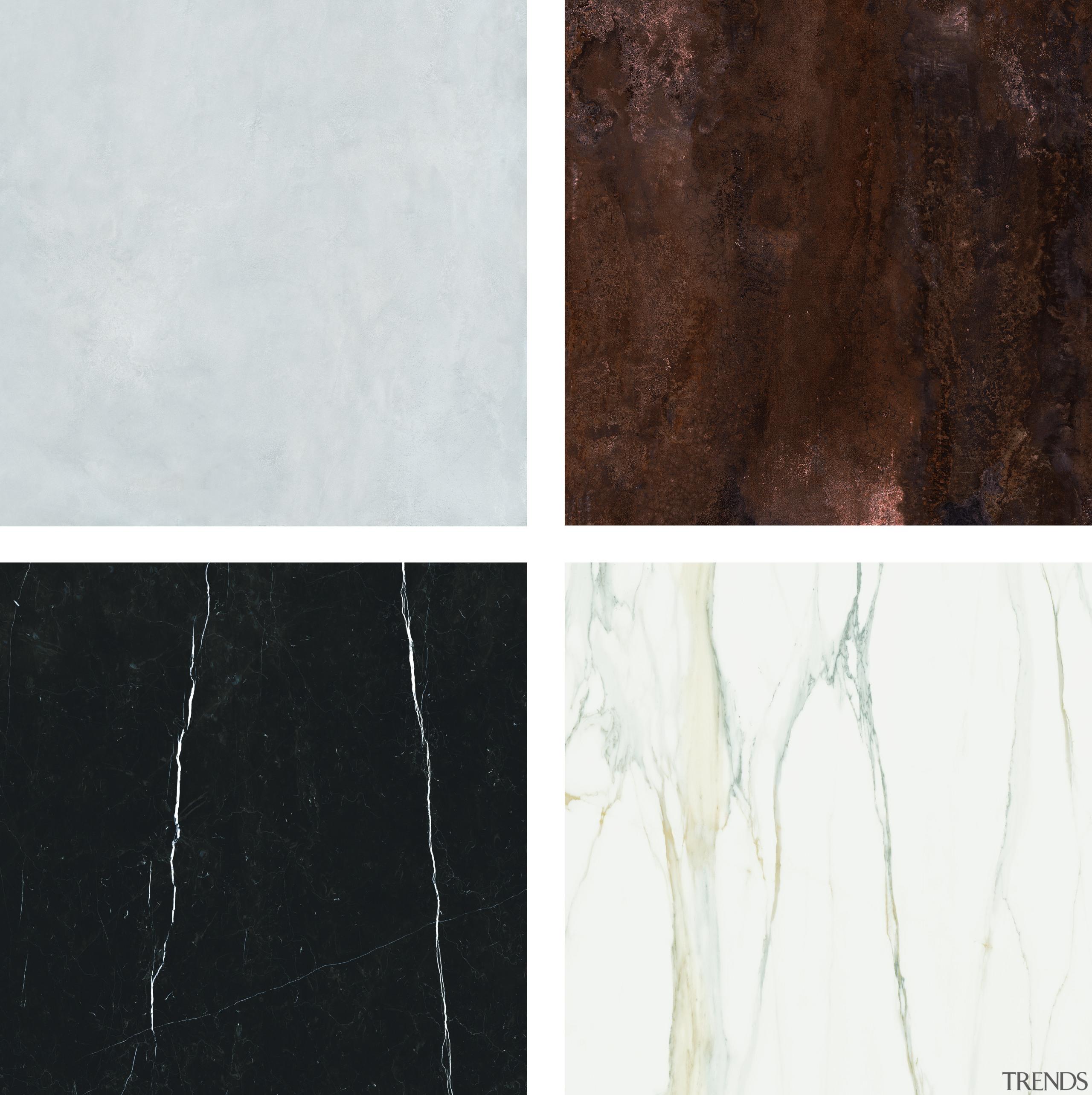 Florim Stone options include (clockwise from top left) Benchtop, Florim Stone, Archant, Countertop