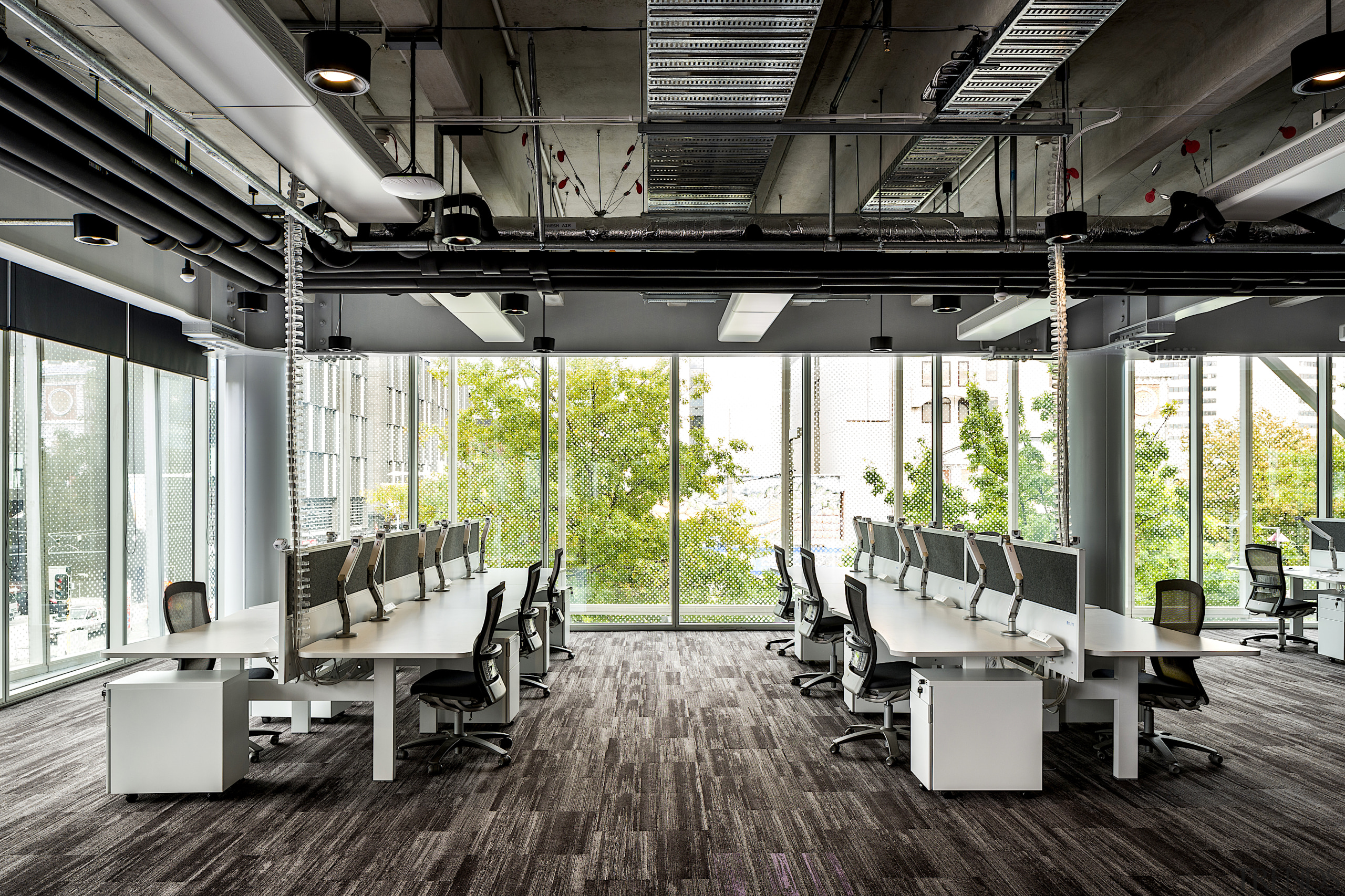 A typical office setting within the Spark building's