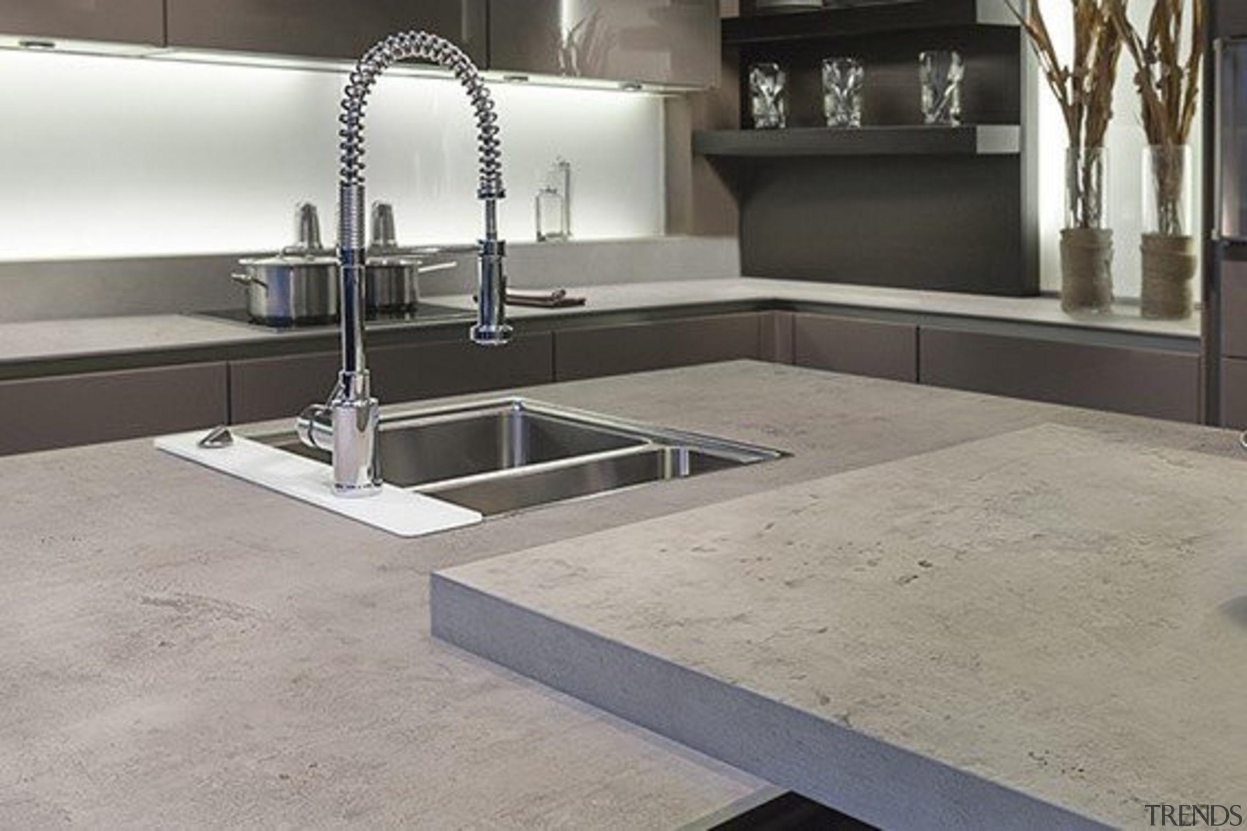 Neolith Beton - Neolith Beton - countertop | countertop, floor, flooring, sink, tile, gray