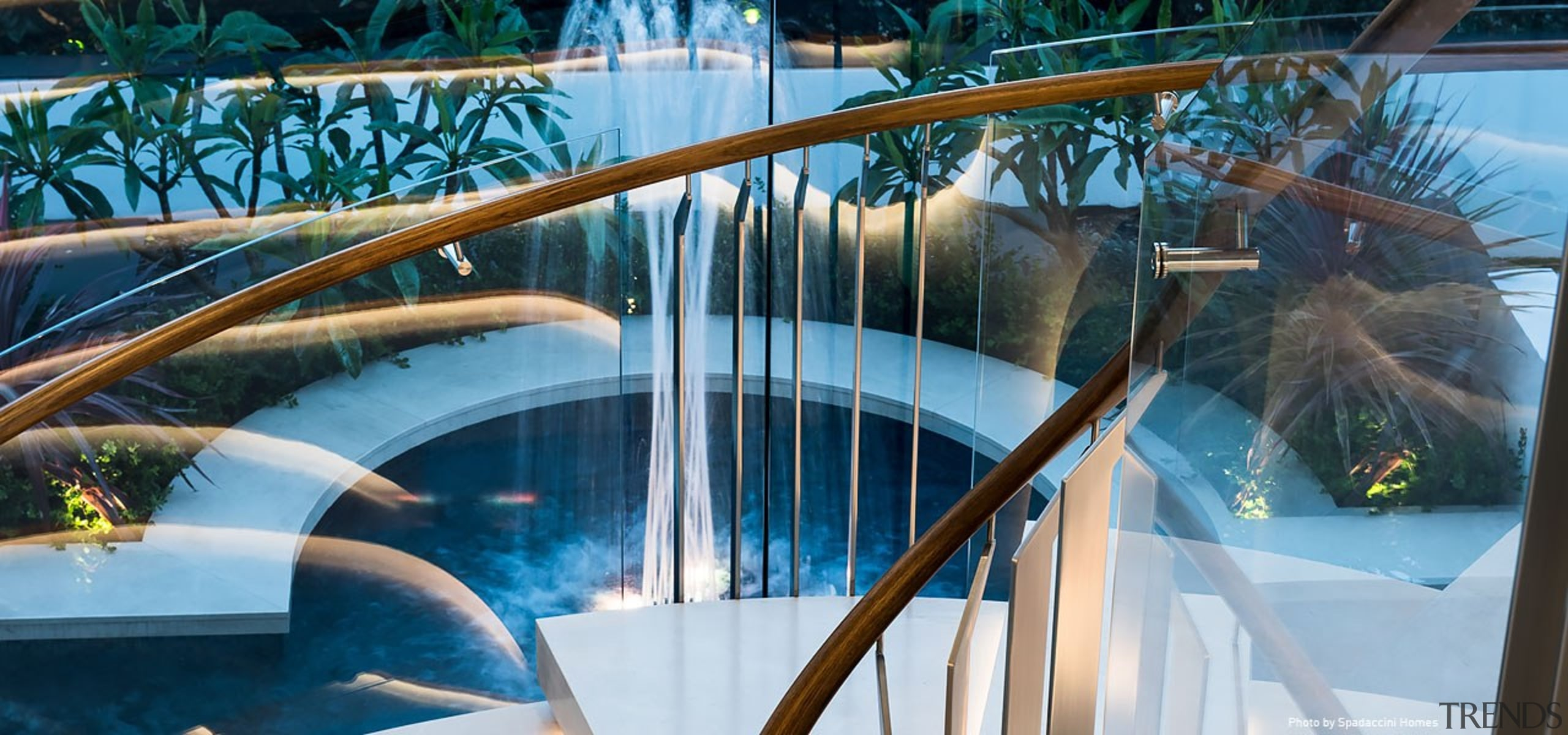 Sorrento Residence 4 - architecture | baluster | architecture, baluster, design, glass, handrail, leisure, real estate, stairs, swimming pool, water, water park, teal