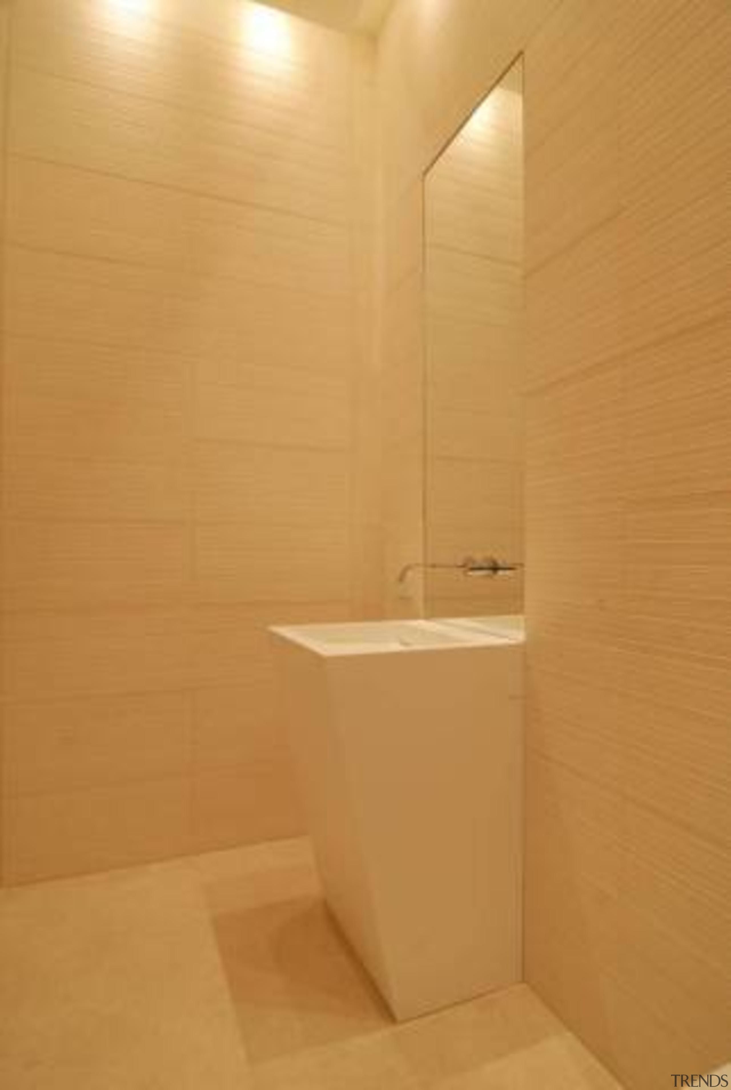 Source: Trulia bathroom, ceiling, floor, interior design, plumbing fixture, product design, property, room, tile, toilet, toilet seat, wall, wood, orange