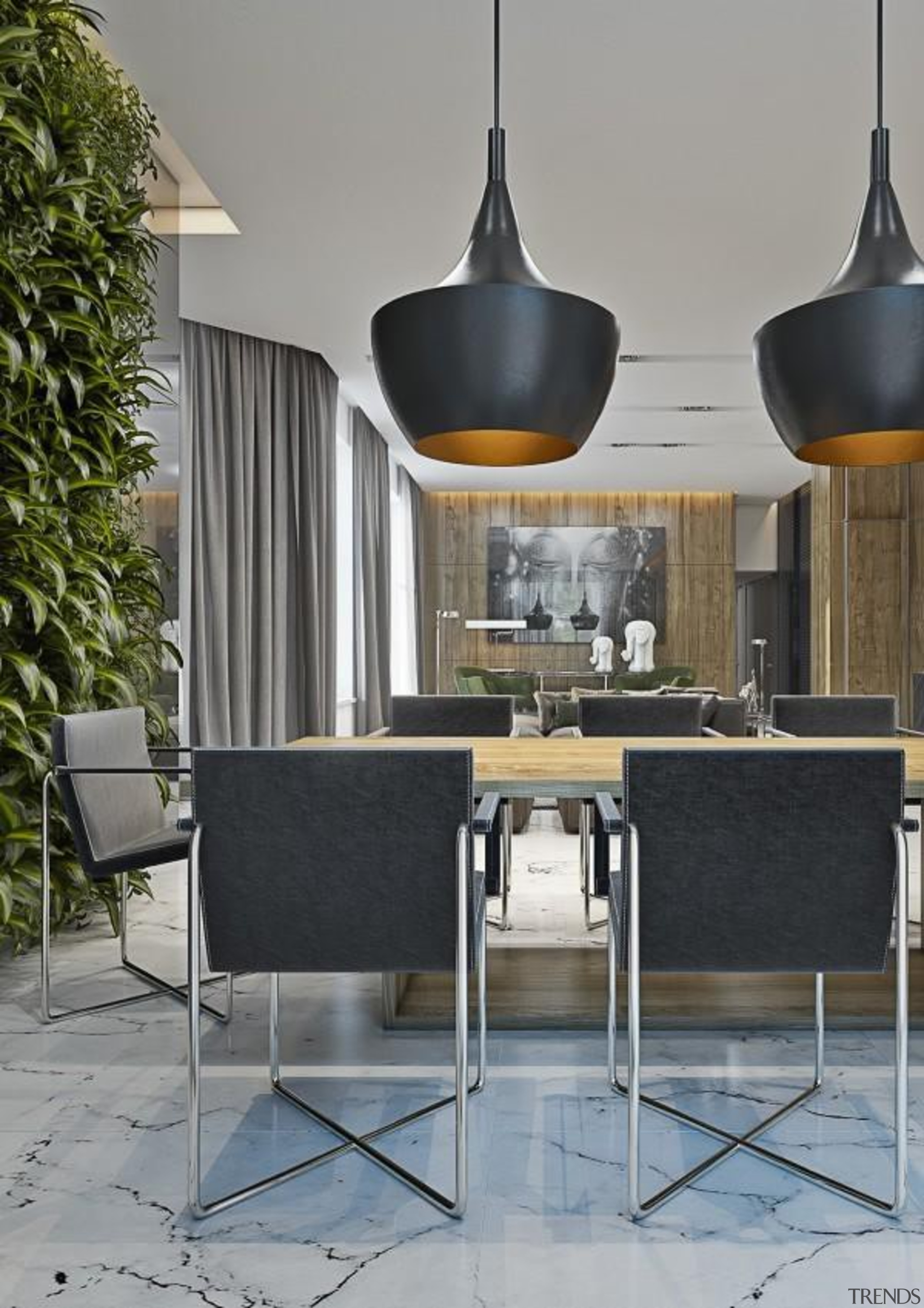 Masculine Apartments - Masculine Apartments - chair   chair, furniture, interior design, light fixture, product design, table, gray