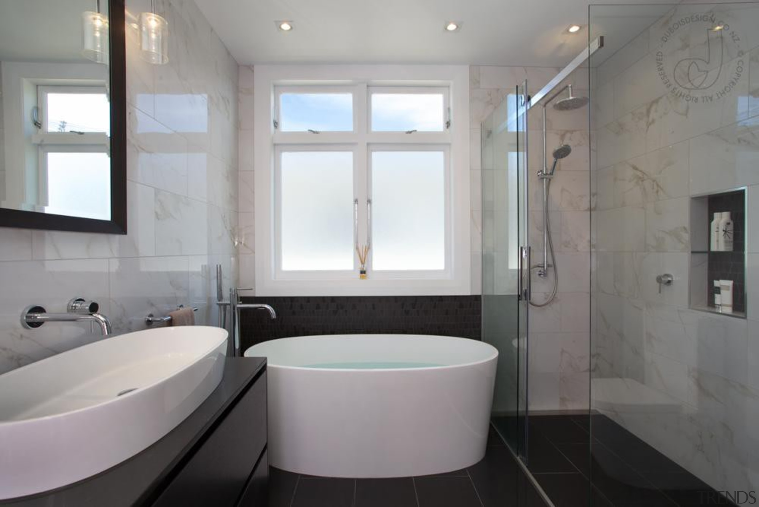 Stylish Bathroom - Stylish Bathroom - architecture | architecture, bathroom, home, interior design, property, room, window, gray