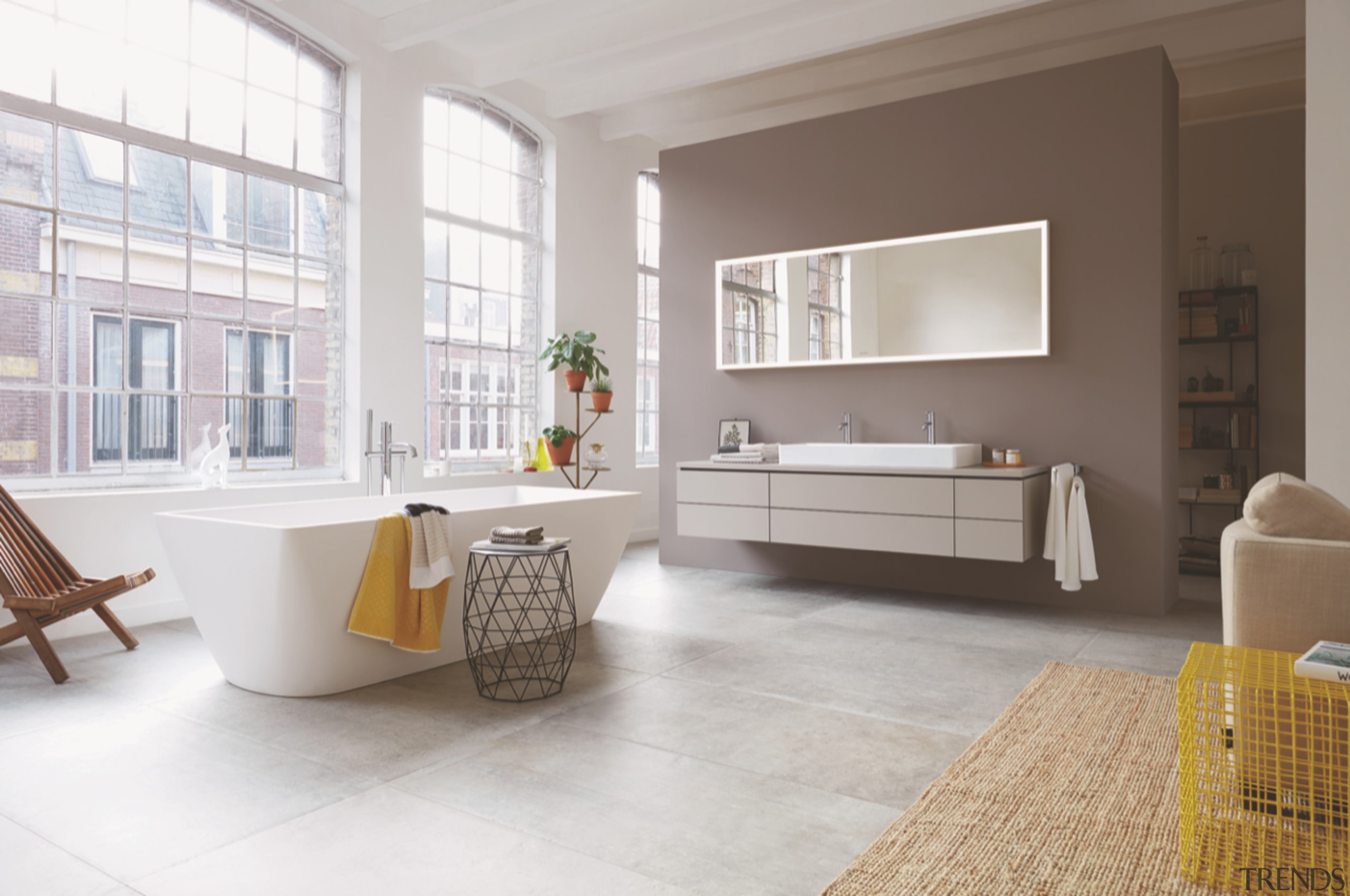 Duravit Bath - architecture | building | cabinetry architecture, building, cabinetry, coffee table, dining room, floor, flooring, furniture, home, house, interior design, living room, material property, property, real estate, room, table, tile, gray