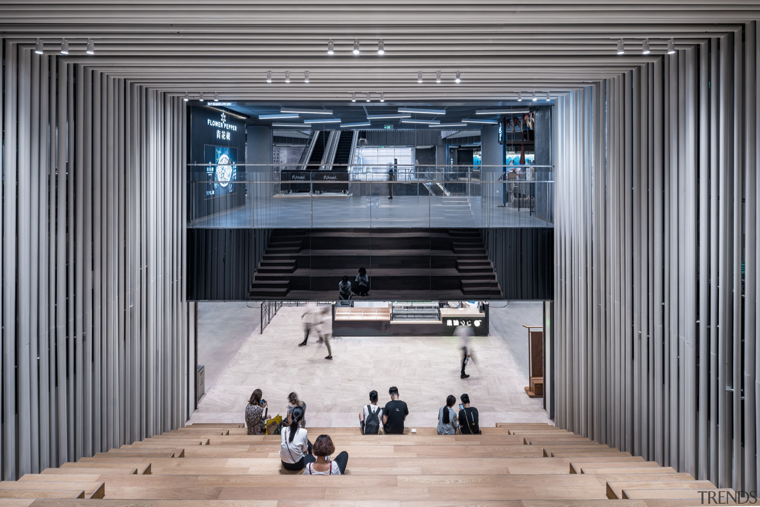 A relaxing space in the Shimao Festival City architecture, building, interior design, lobby, seating, Shimao Festival,  City Mall, Kokaistudios
