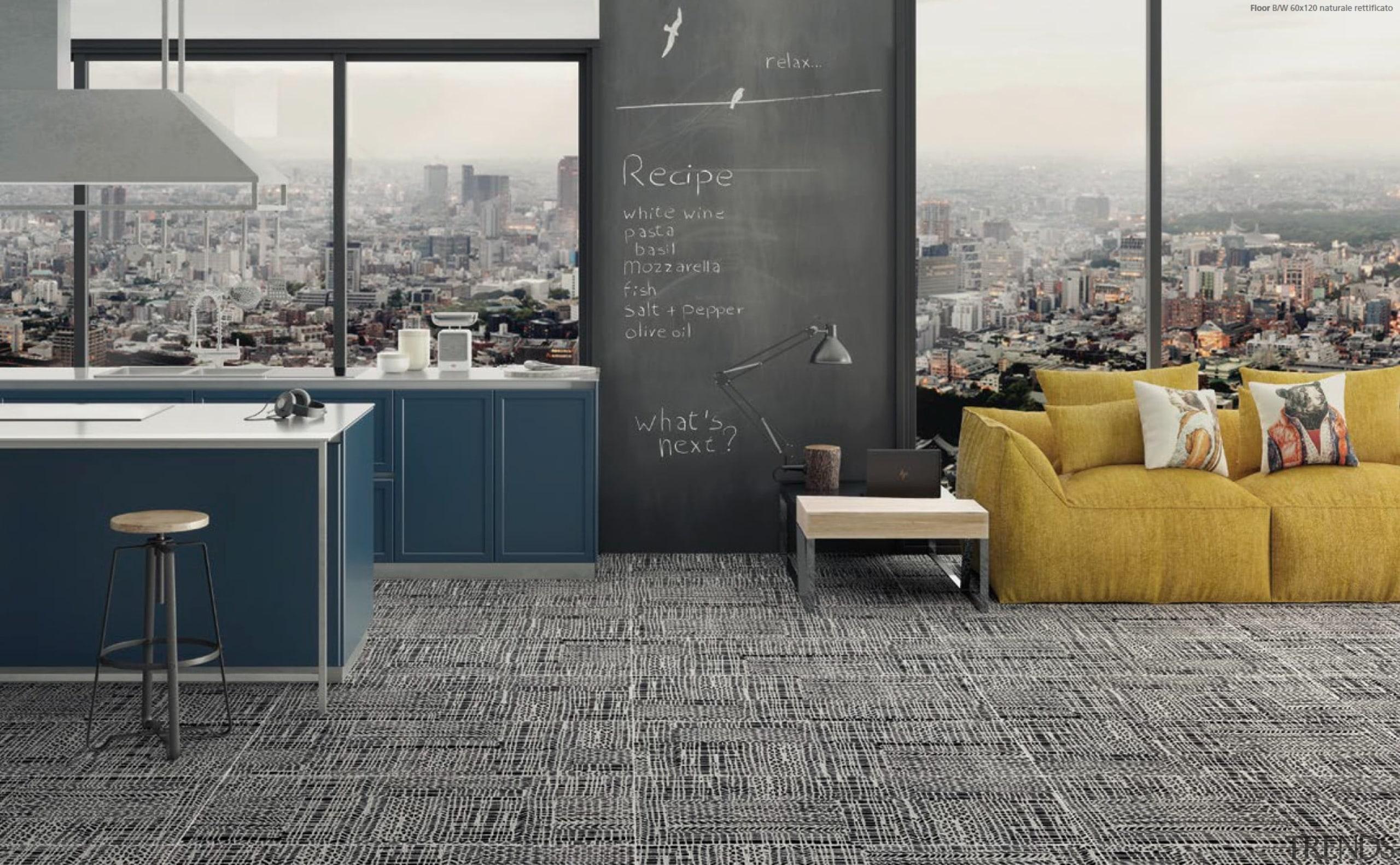 Craft Black & White 600x600 - Craft Black floor, flooring, furniture, interior design, tile, wall, gray, black