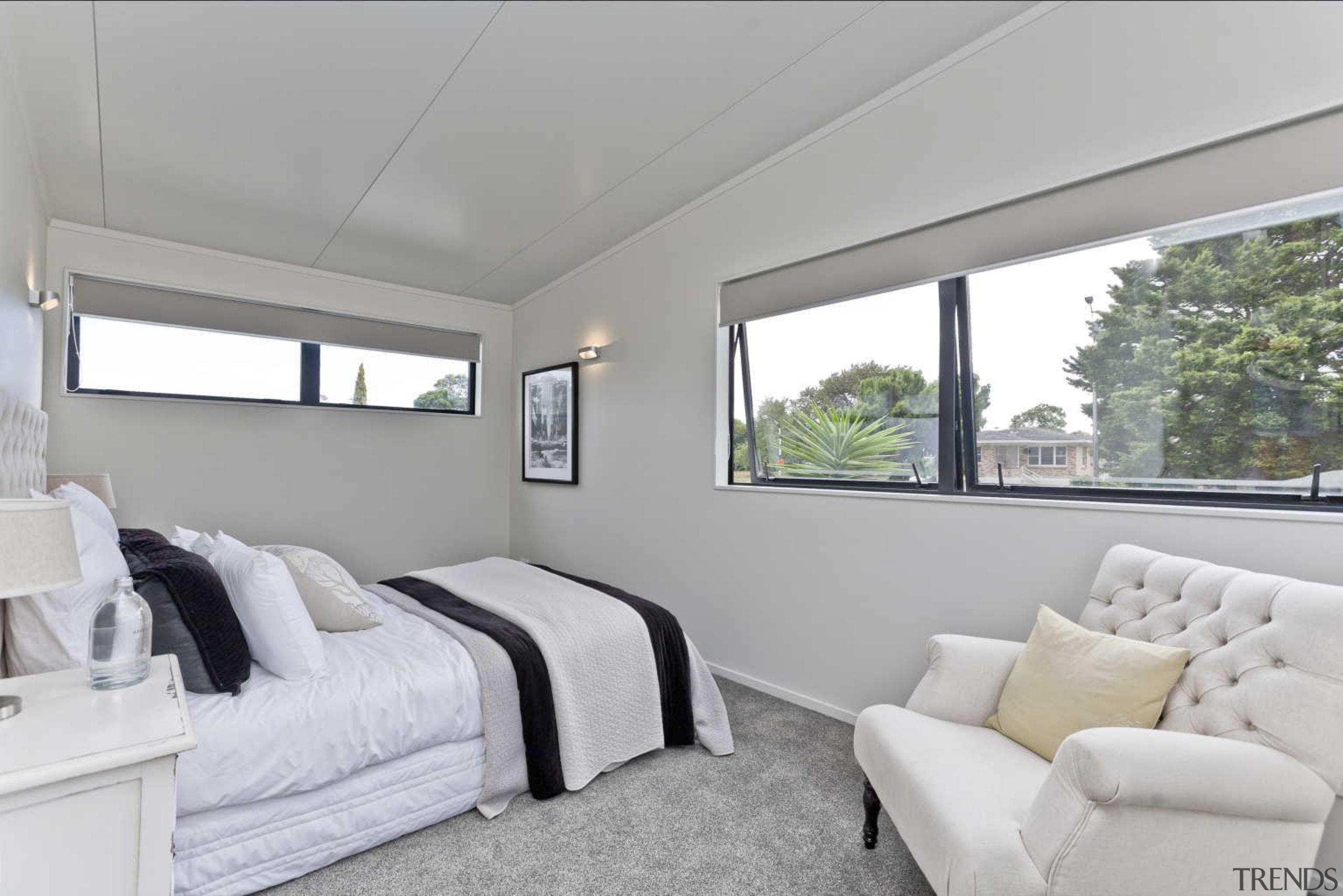 Bedroom design by Yellowfox - Bedroom - bedroom bedroom, home, house, interior design, property, real estate, room, window, gray