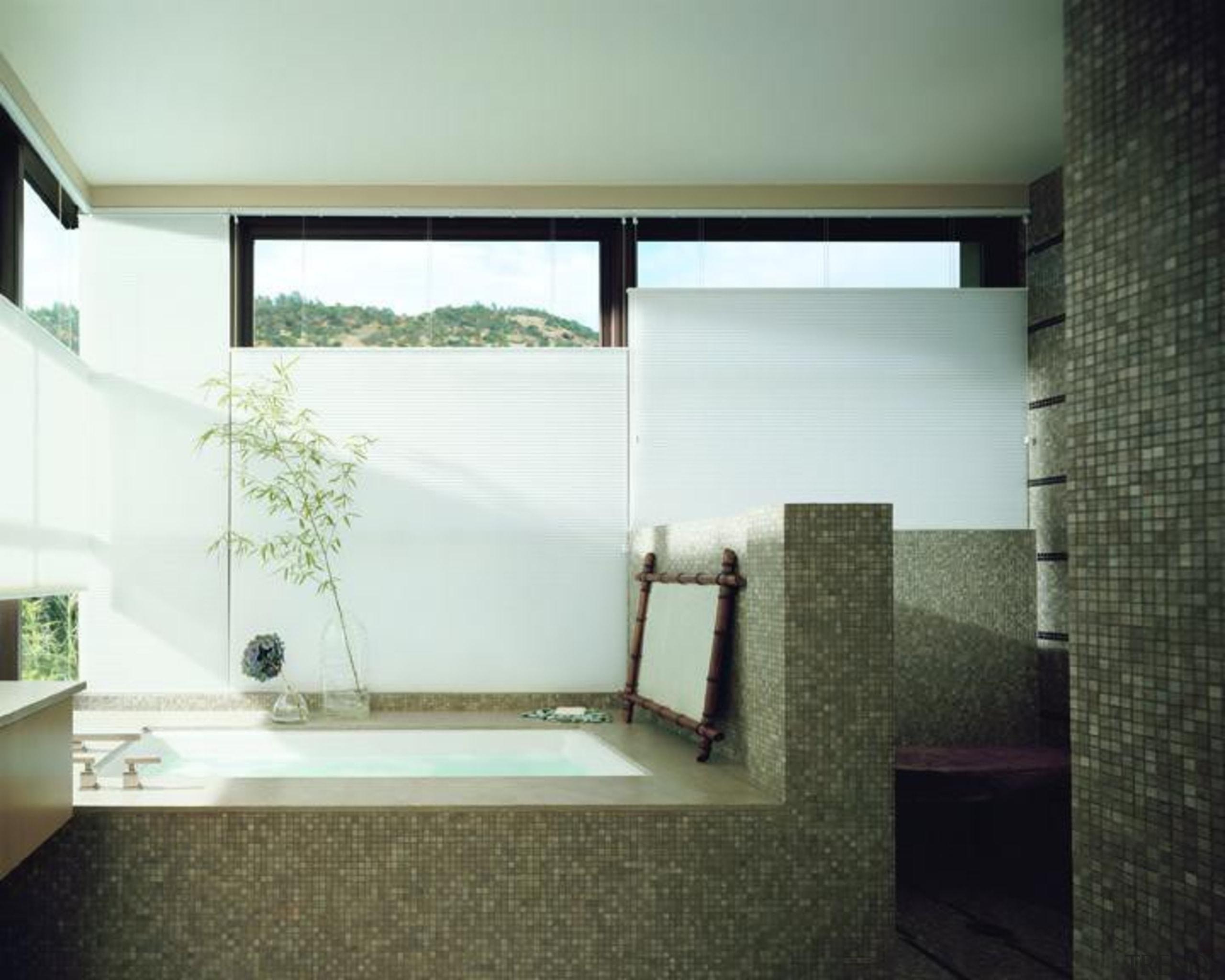 luxaflex duette shades - luxaflex duette shades - architecture, bathroom, daylighting, floor, glass, home, house, interior design, room, window, white, black