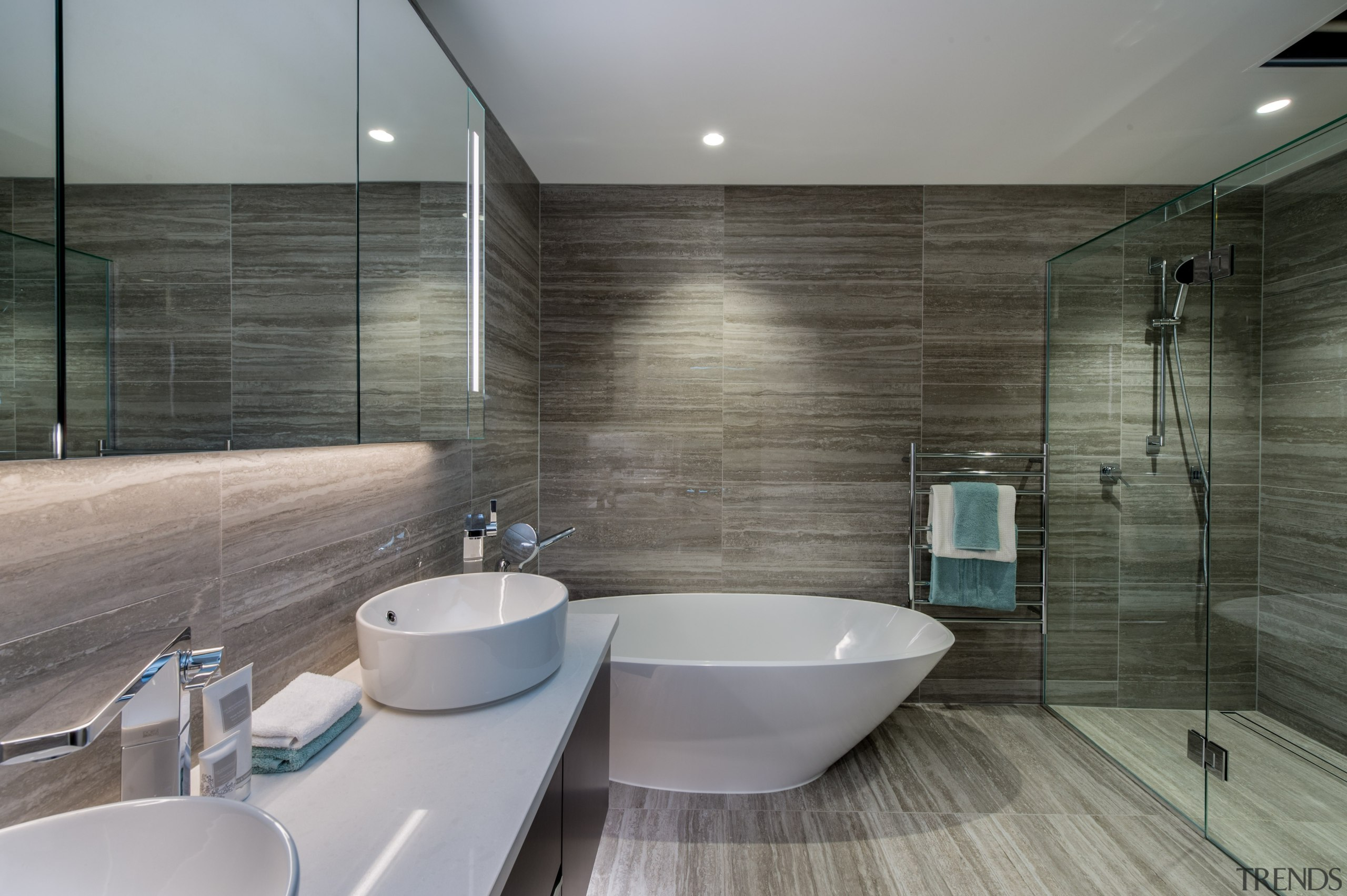 Bath - architecture | bathroom | floor | architecture, bathroom, floor, interior design, room, tile, gray, black