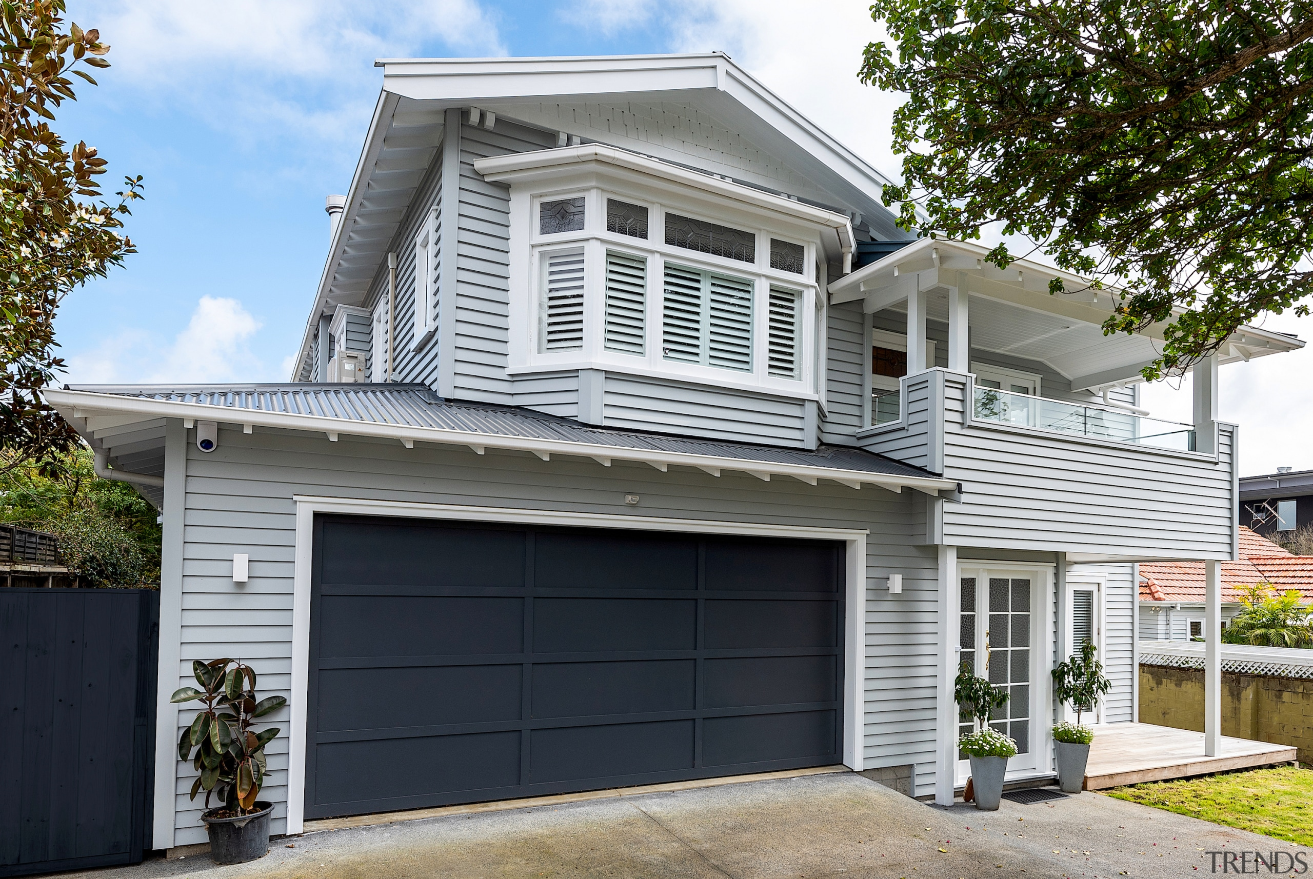 Buildology / MyHome Renovations – Finalist – 2019 architecture, building, door, estate, facade, garage, garage door, gate, home, house, property, real estate, residential area, roof, siding, tree, window, white, black