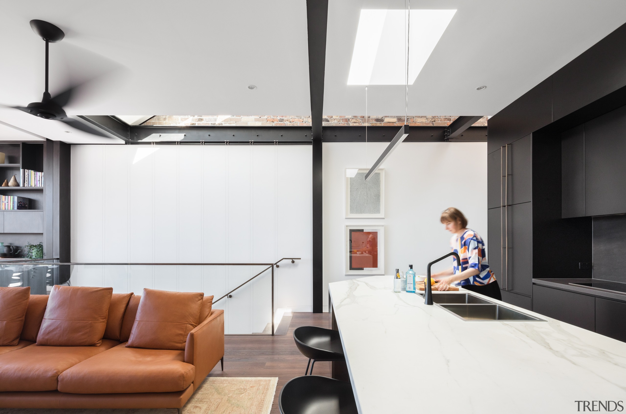 Nz3406Bijl–286981396 06 - architecture | ceiling | daylighting architecture, ceiling, daylighting, furniture, house, interior design, living room, loft, white