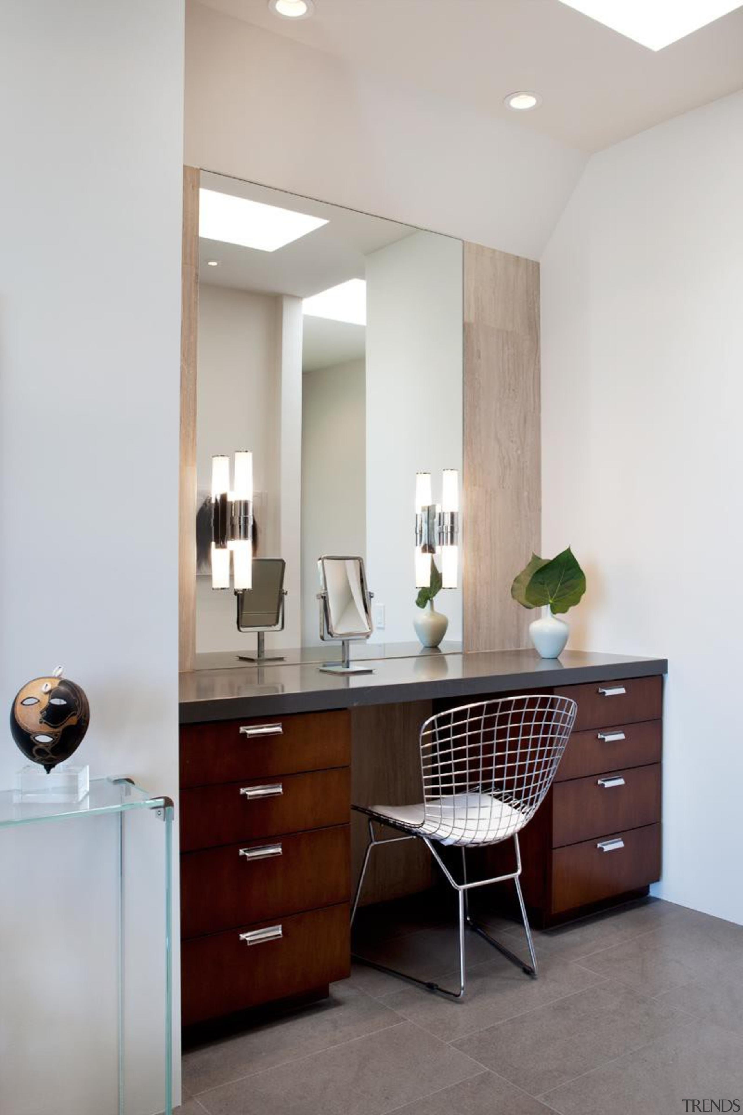 Makeup Vanity - Makeup Vanity - bathroom | bathroom, bathroom accessory, bathroom cabinet, cabinetry, chest of drawers, floor, furniture, home, interior design, product design, room, table, wall, gray