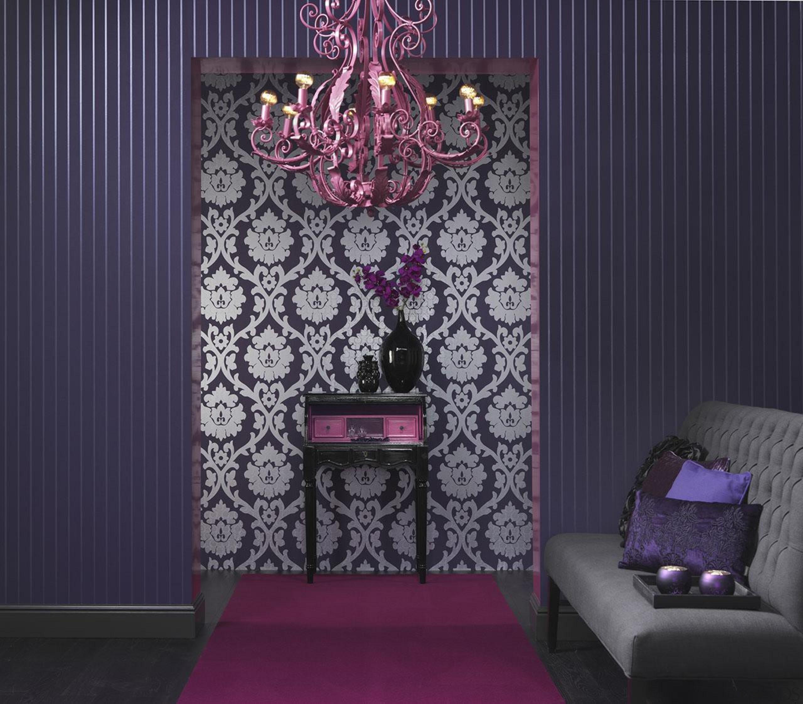 Brocante II Range - Brocante II Range - design, interior design, magenta, pattern, pink, purple, textile, violet, wall, wallpaper, purple, black