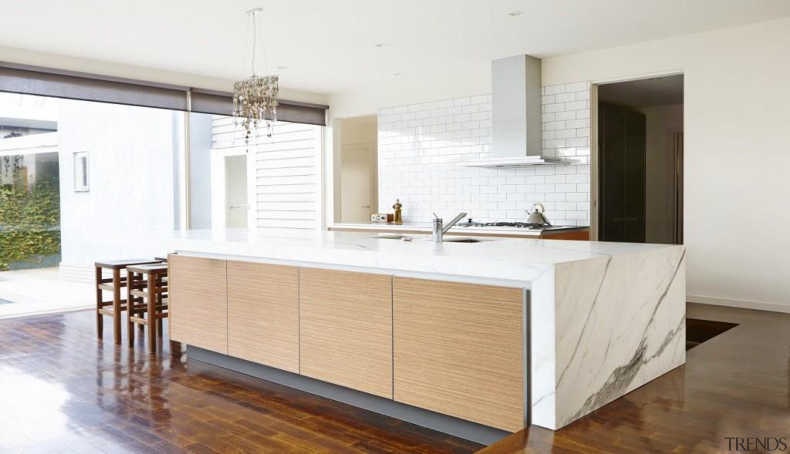 Pepper Design - with Teak finish and Aluminum cabinetry, countertop, cuisine classique, floor, interior design, kitchen, real estate, room, wood flooring, white