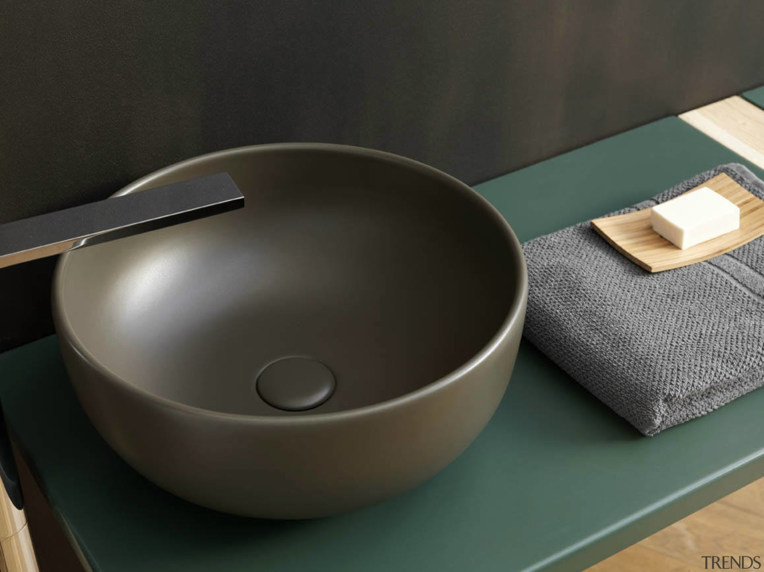 This basin forms part of the Fluid collection bathroom sink, ceramic, cookware and bakeware, plumbing fixture, product design, sink, tableware, black