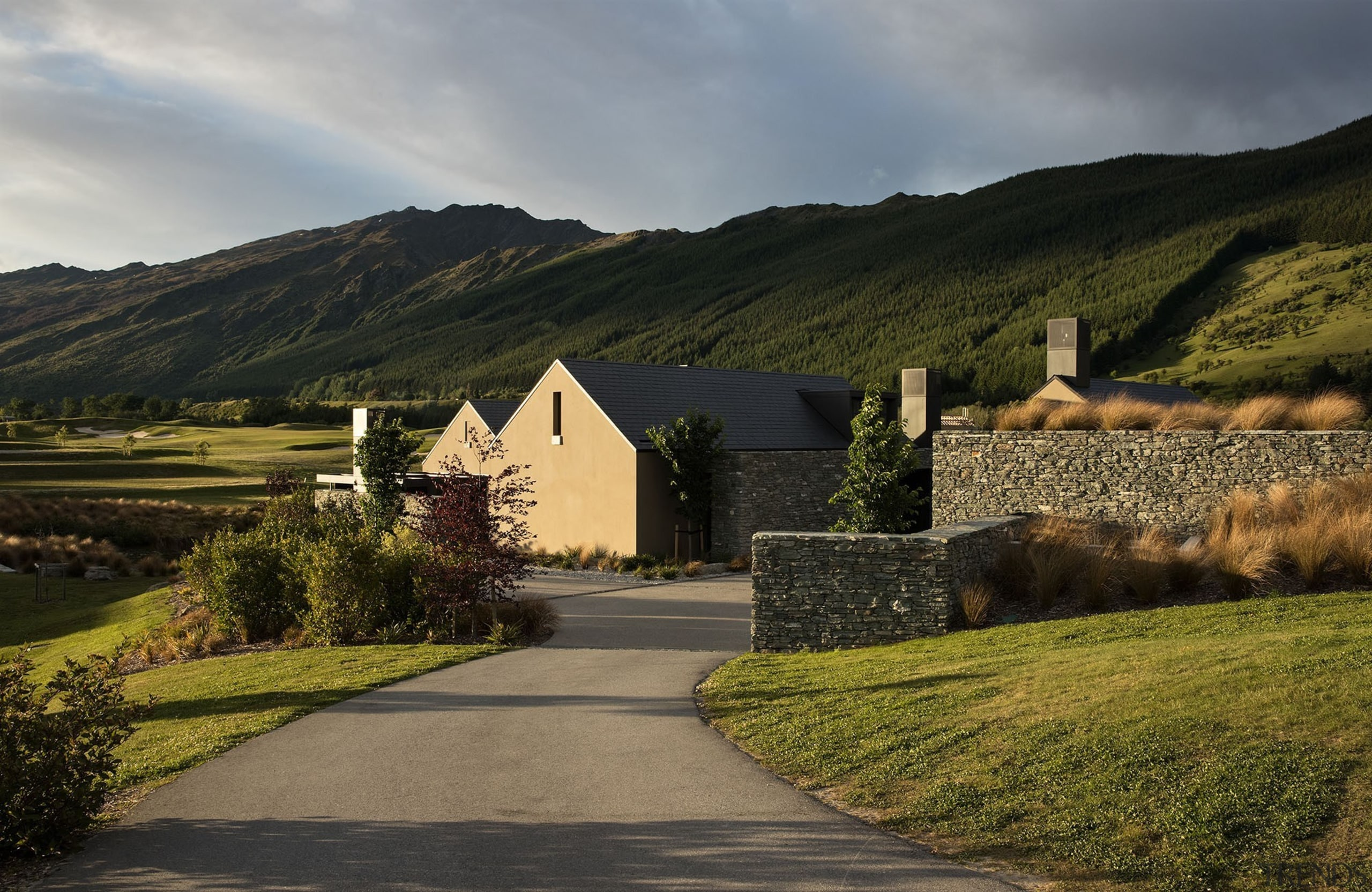 Millbrook House - Sumich Chaplin Architects - Millbrook cloud, cottage, estate, grass, highland, hill, home, house, landscape, morning, mountain, real estate, rural area, sky, sunlight, tree, village, brown, black, gray