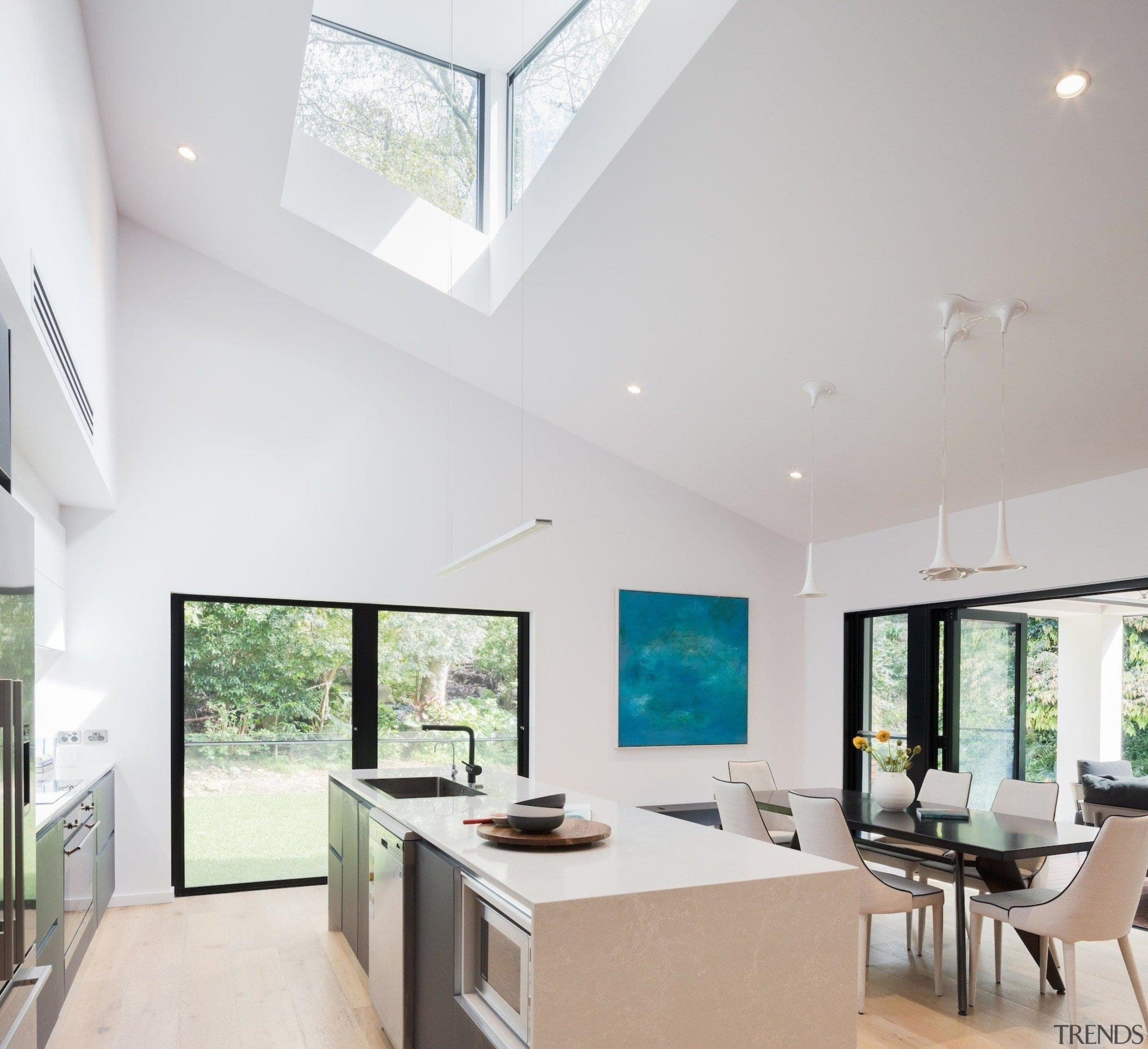 Winner – Bijl Architecture - architecture   ceiling architecture, ceiling, daylighting, estate, house, interior design, living room, property, real estate, window, gray, white