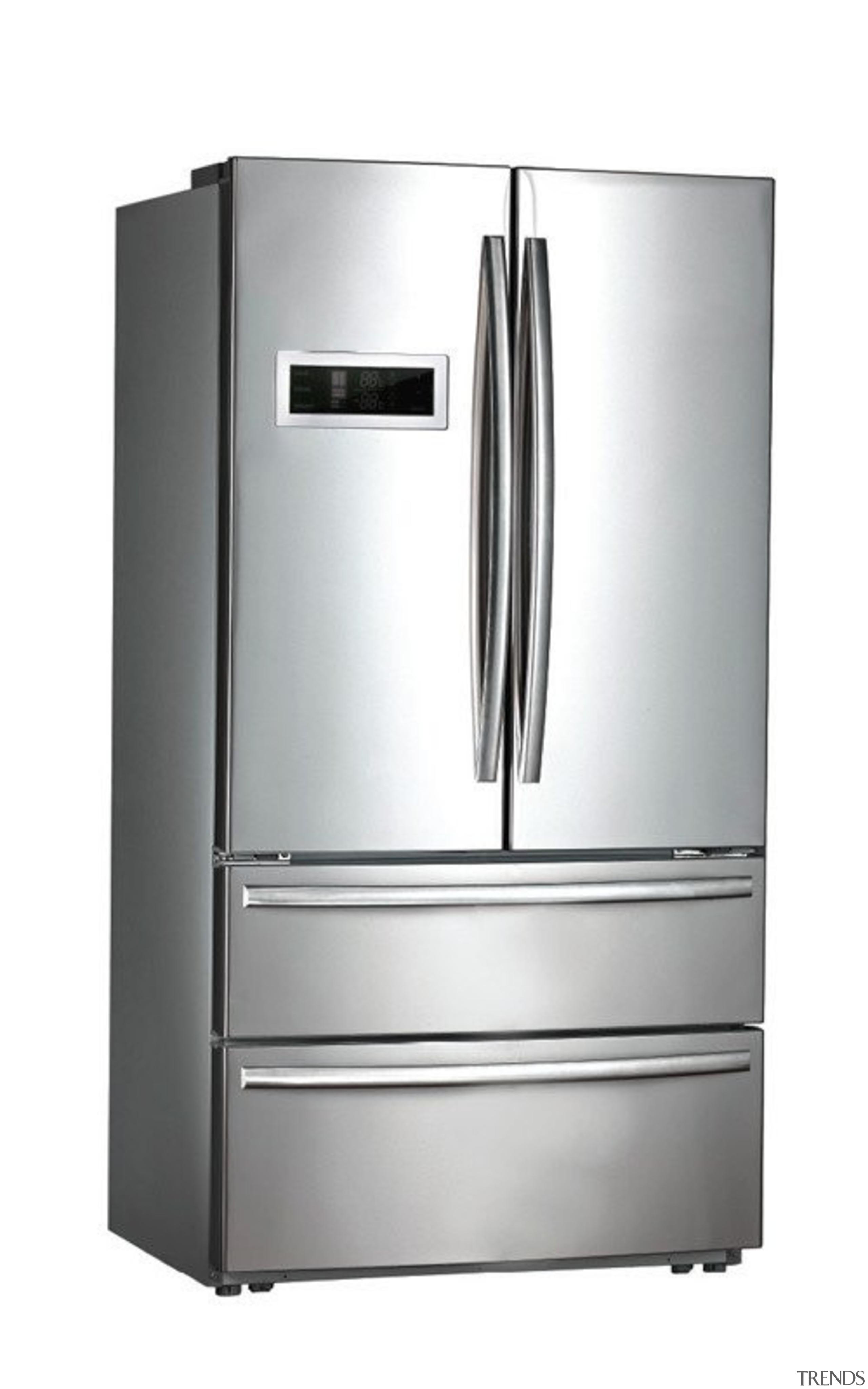 635L French Door Fridge FreezerGross Capacity: 635L445L Fridge home appliance, kitchen appliance, major appliance, product, product design, refrigerator, white