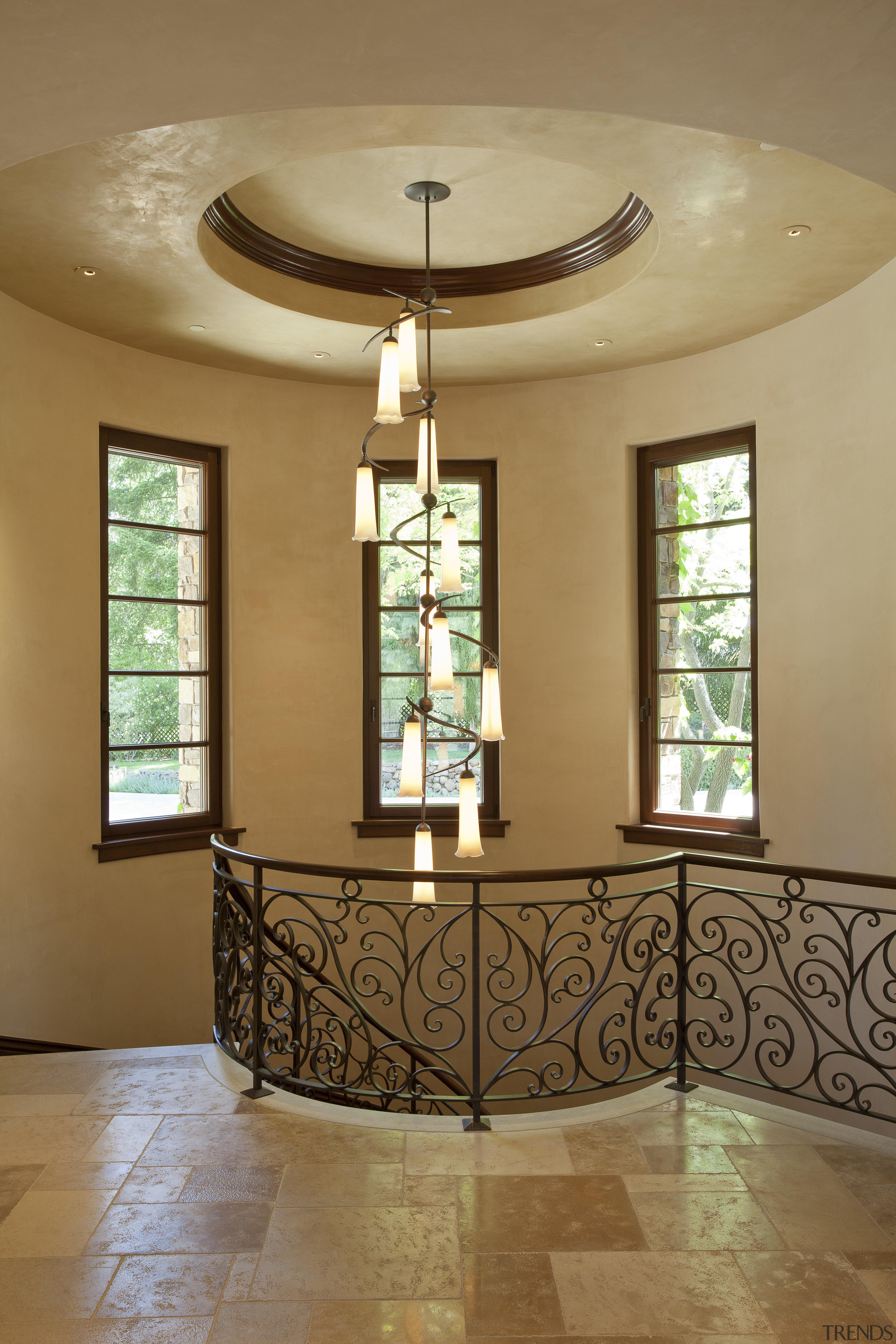 Santa Barbara-Meditteranean-style interior by Alison Whittaker ceiling, estate, floor, home, interior design, lobby, window, brown