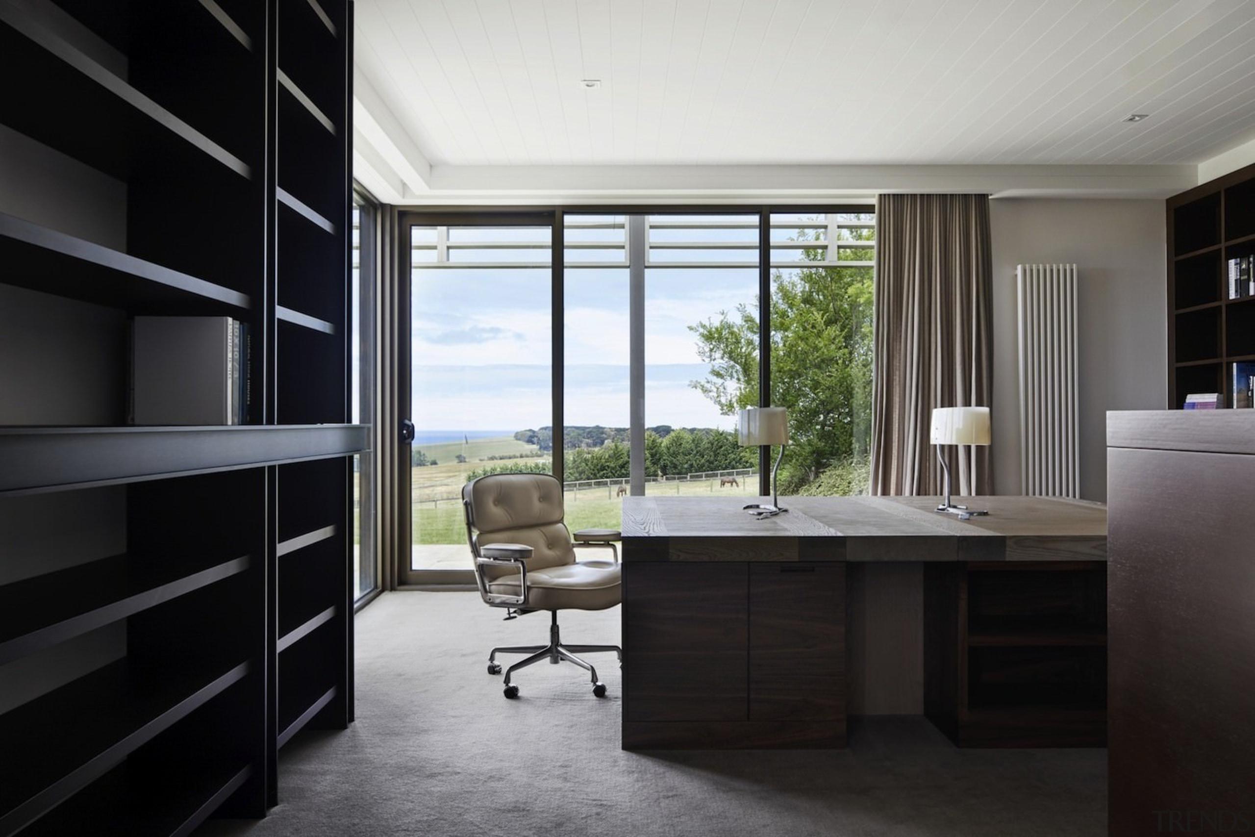 Architect: B.E Architecture architecture, interior design, window, black