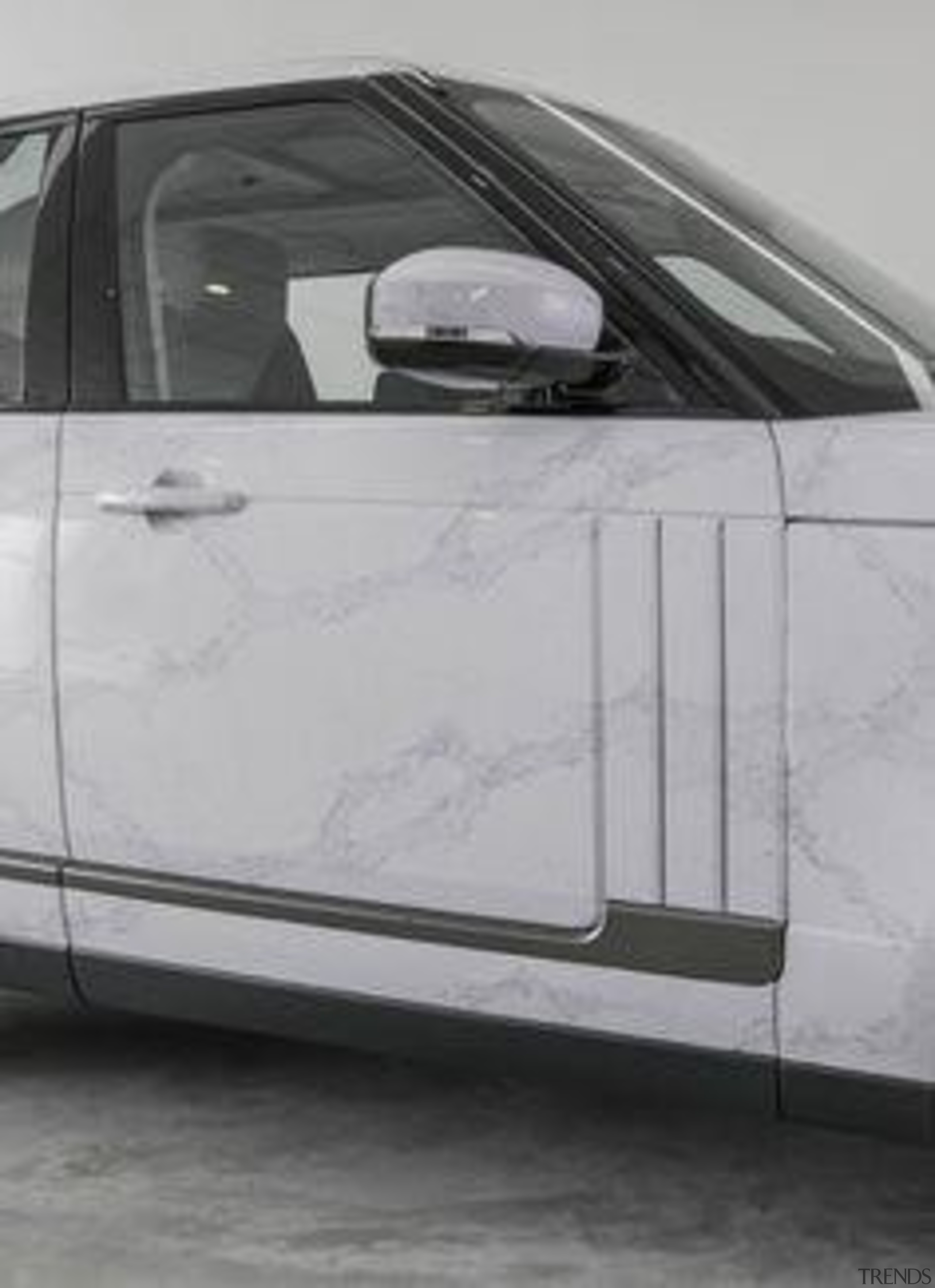 Caesarstone Calacatta Nuvo Launch Singapore Range Rover auto part, automotive design, automotive exterior, automotive wheel system, bumper, car, executive car, family car, floor, grille, hood, luxury vehicle, mid size car, motor vehicle, personal luxury car, sedan, vehicle, vehicle door, wheel, gray, black