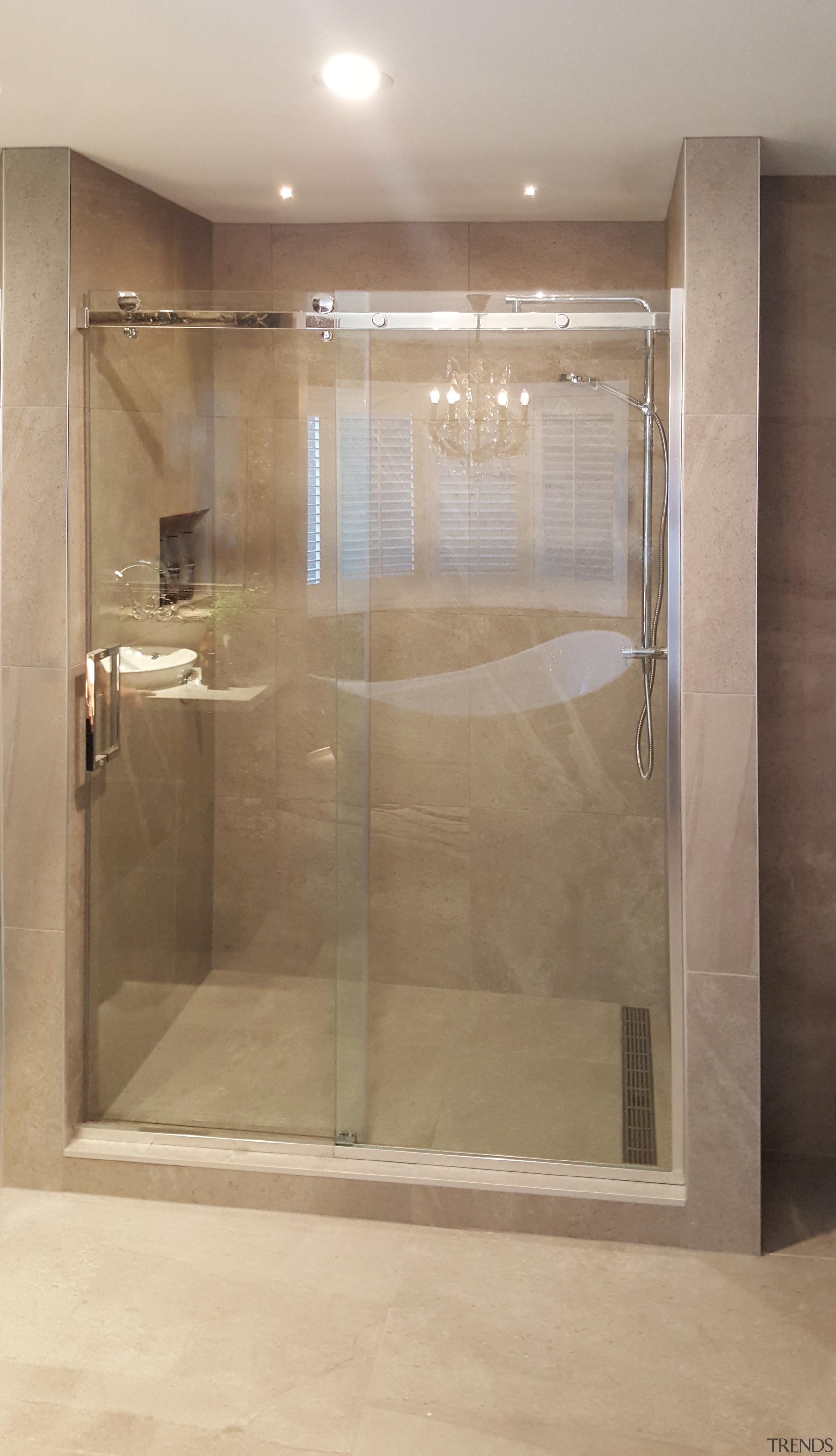 This shower by Five Star Bathrooms has bathroom, plumbing fixture, shower, brown, gray