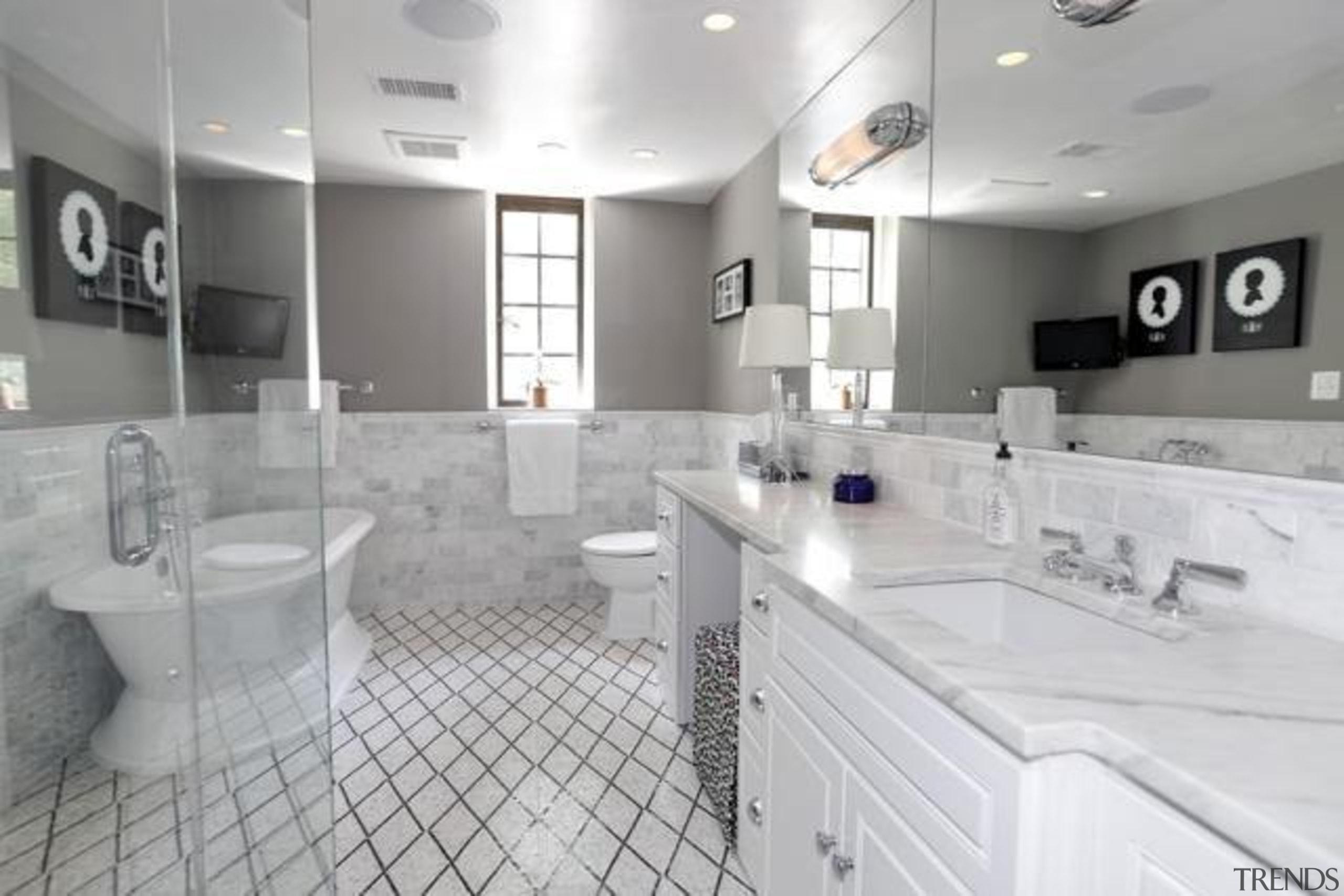 Original story from Trulia bathroom, countertop, floor, home, interior design, kitchen, property, real estate, room, sink, gray