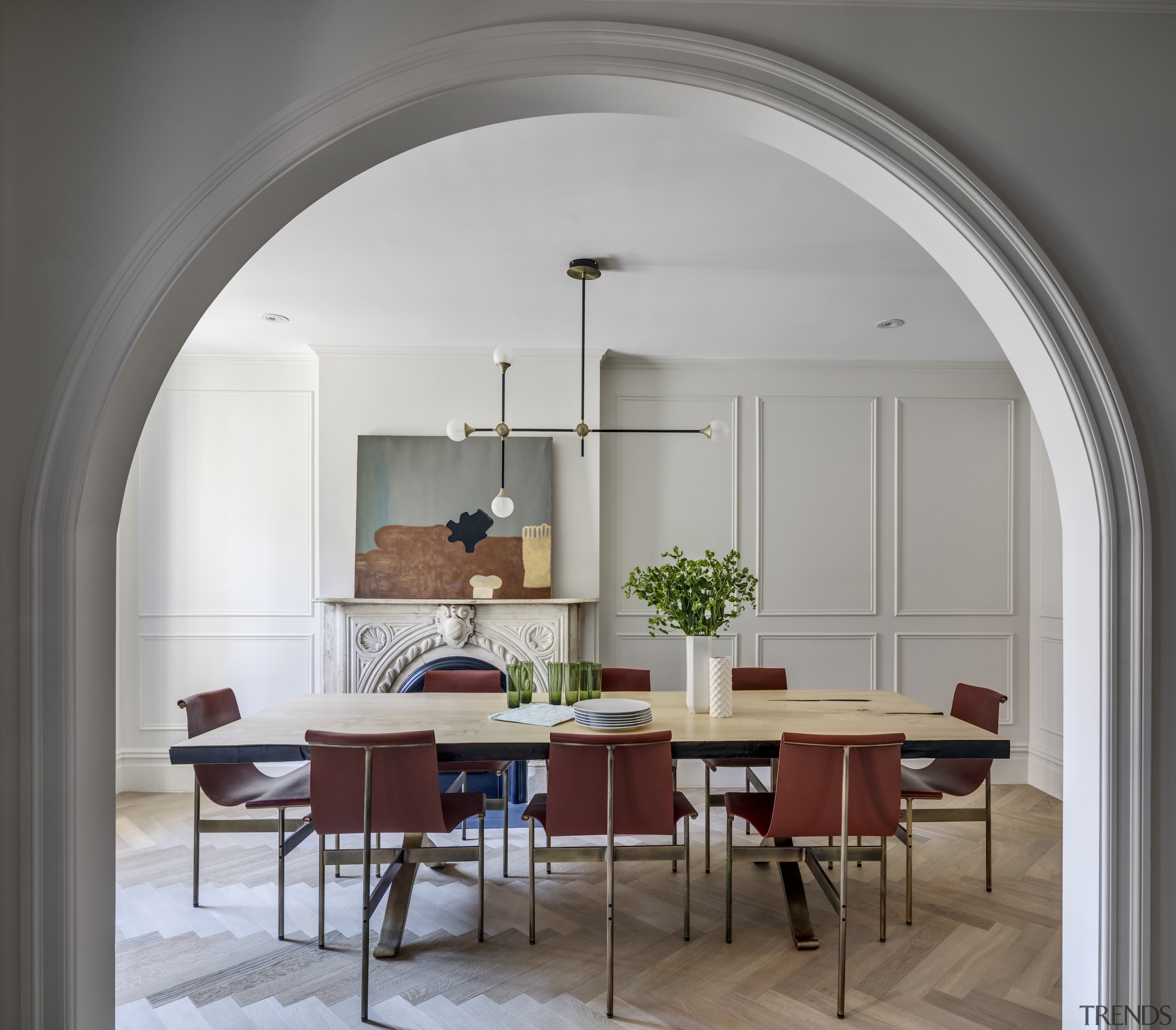 It's all in the framing – panelled walls