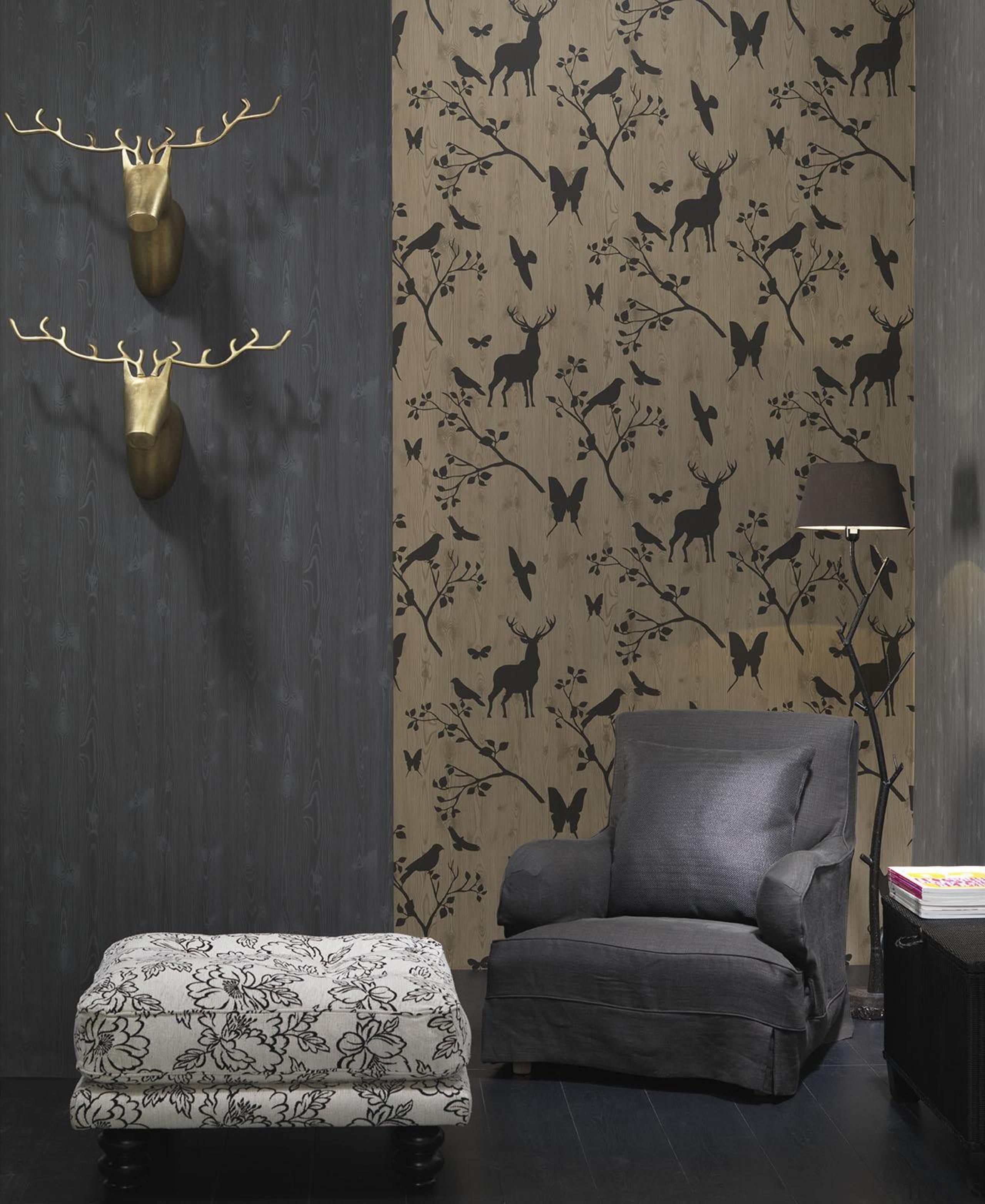 Modern Style Range - decor   interior design decor, interior design, living room, wall, wallpaper, black, gray