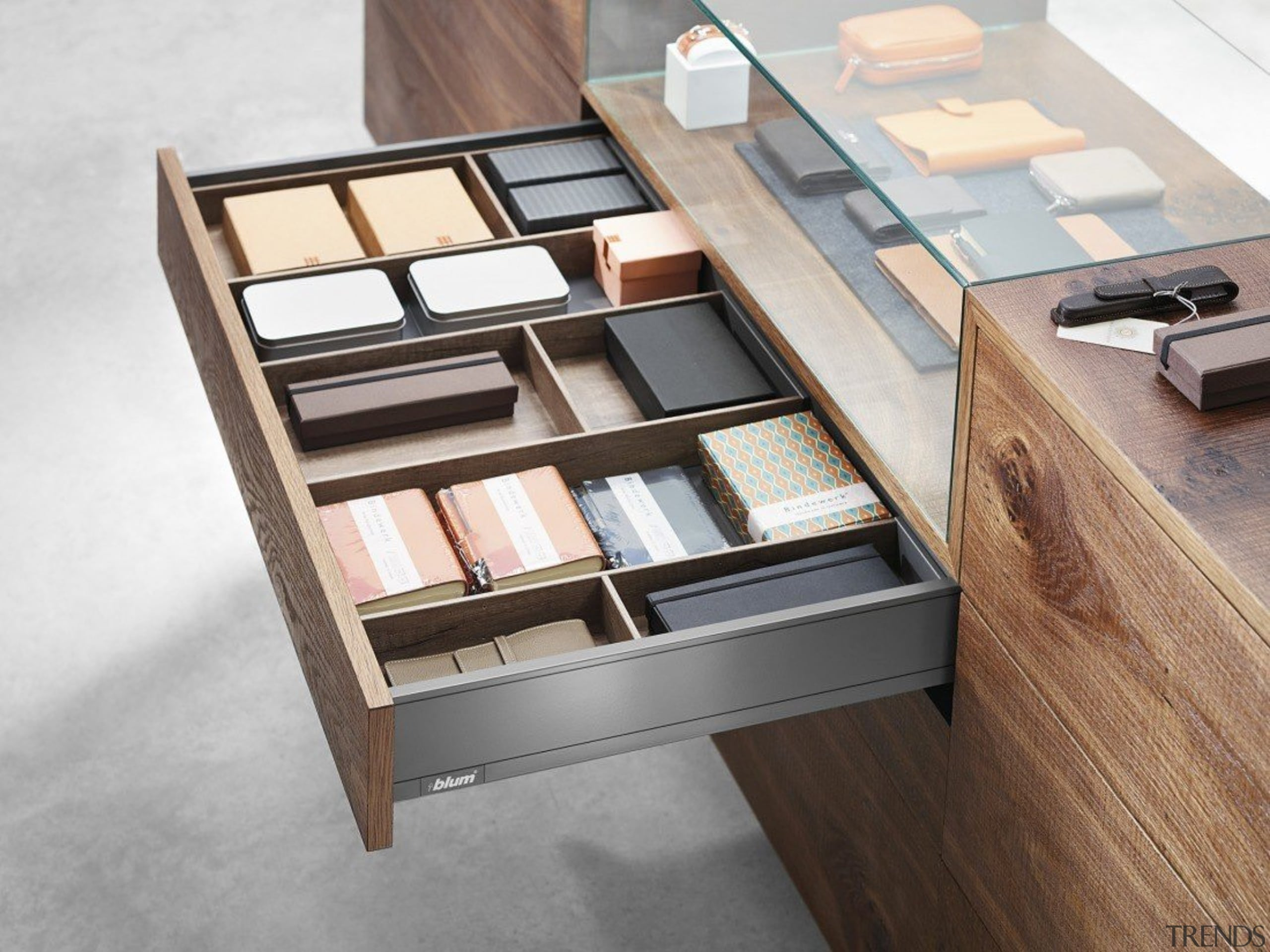 AMBIA-LINE inner dividing system – organization at its drawer, furniture, product, product design, table, white