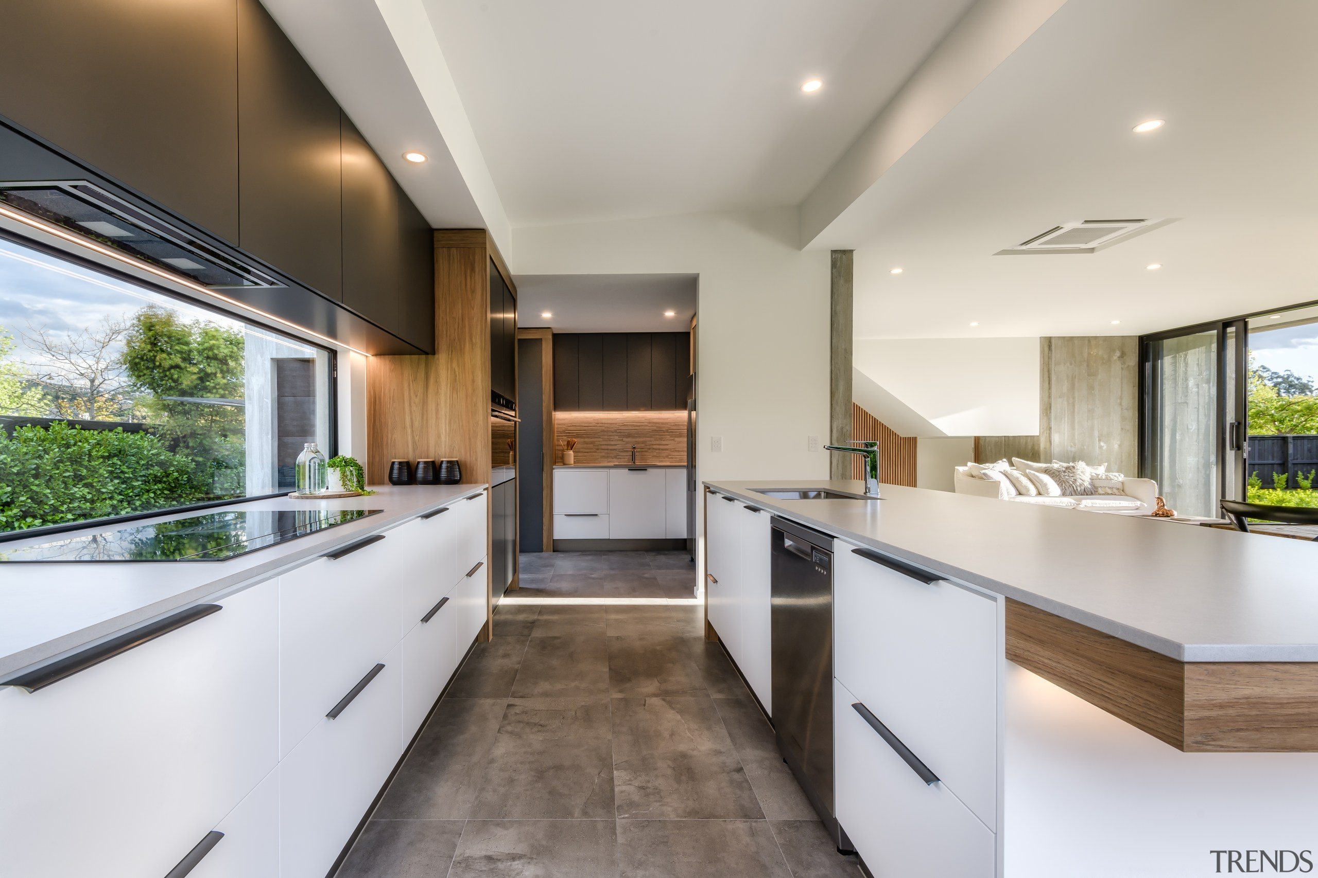 Having ventilation integrated into the overhead wall cabinetry